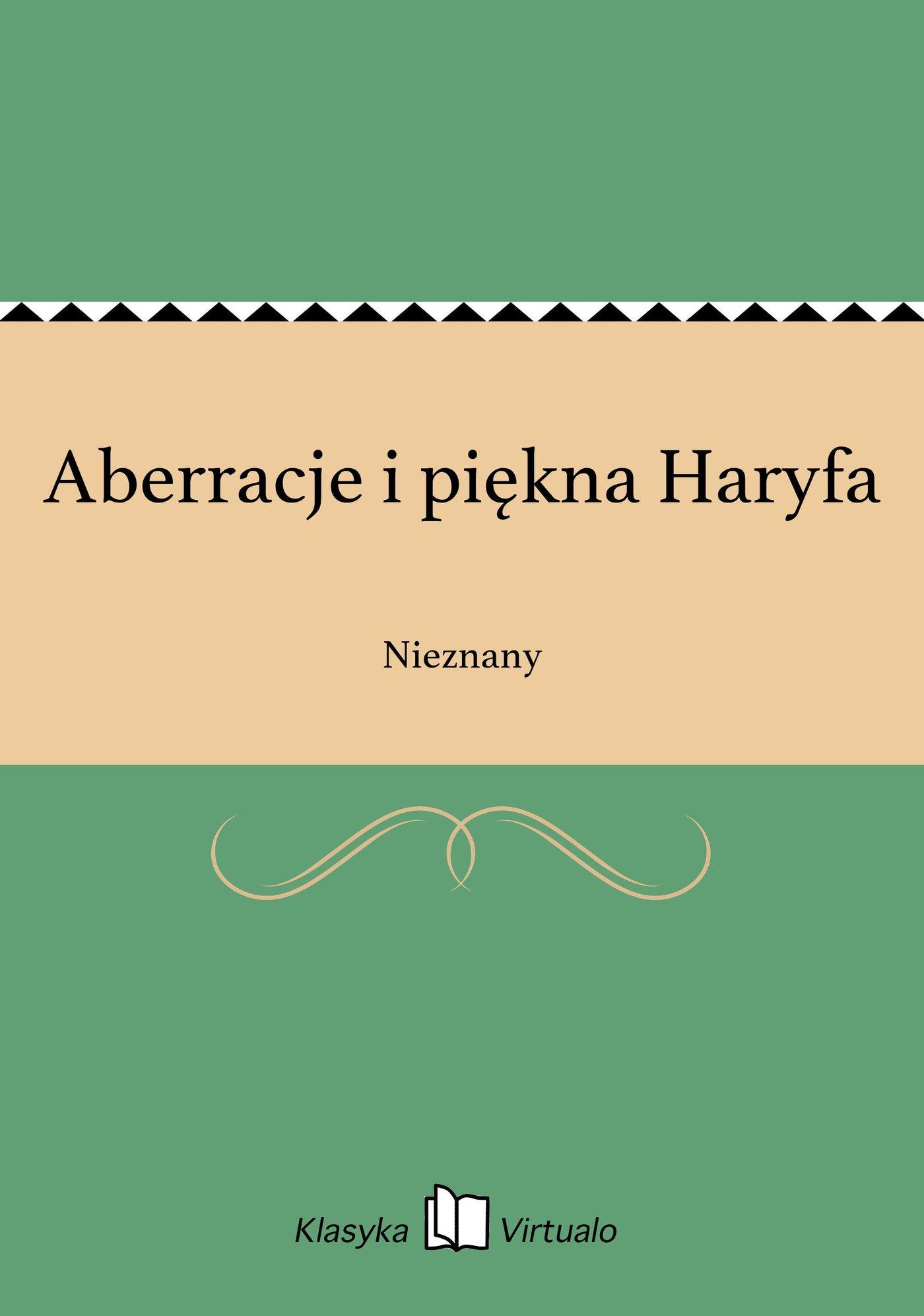 Aberracje i piękna Haryfa - Ebook (Książka EPUB) do pobrania w formacie EPUB
