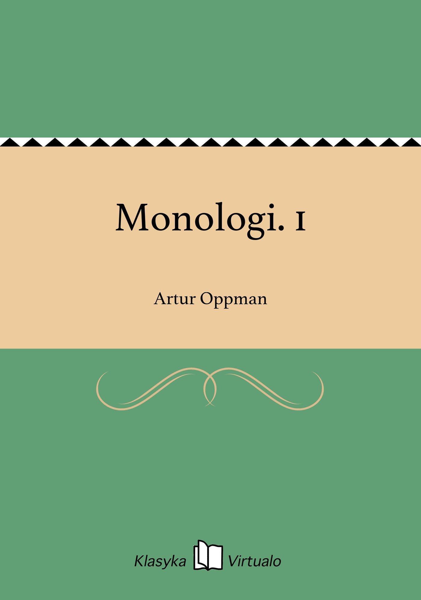 Monologi. 1 - Ebook (Książka EPUB) do pobrania w formacie EPUB