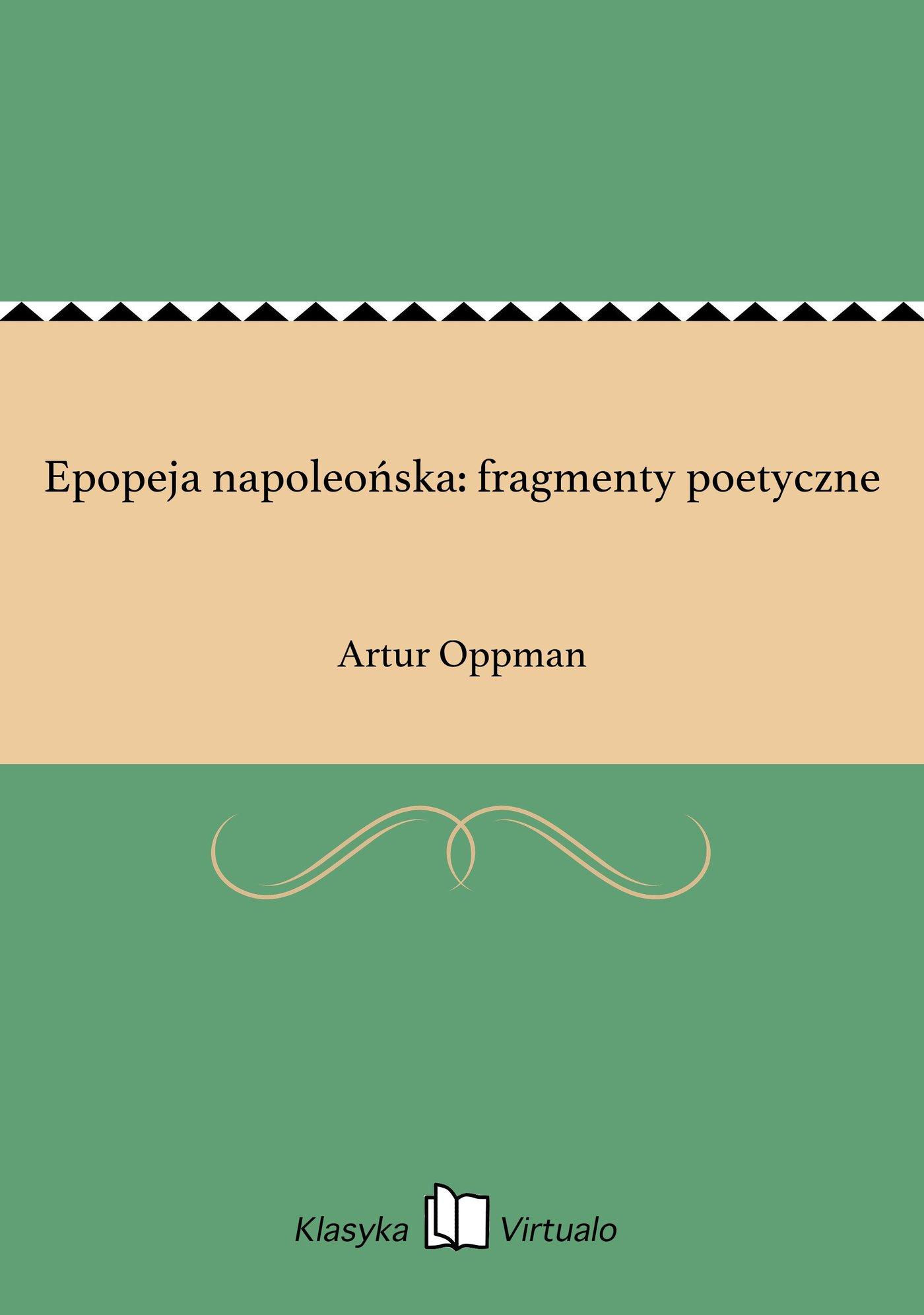 Epopeja napoleońska: fragmenty poetyczne - Ebook (Książka EPUB) do pobrania w formacie EPUB