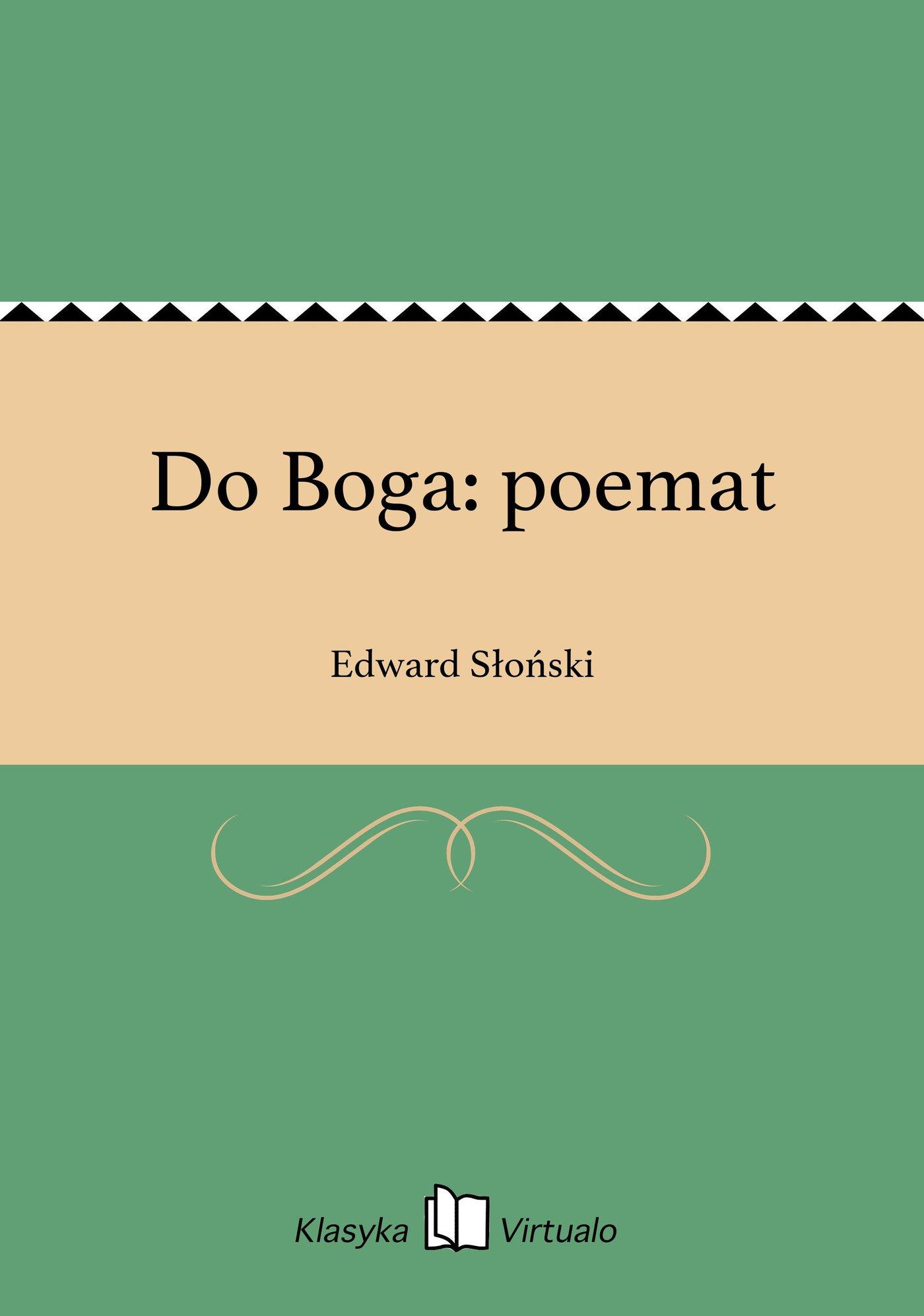 Do Boga: poemat - Ebook (Książka EPUB) do pobrania w formacie EPUB