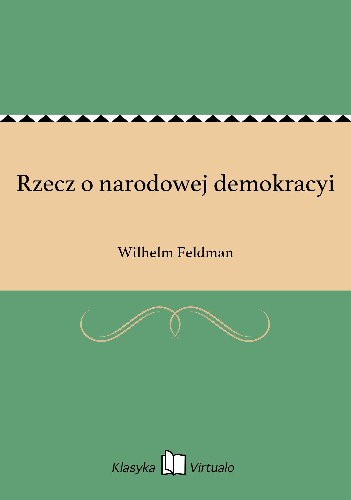 Rzecz o narodowej demokracyi - Ebook (Książka EPUB) do pobrania w formacie EPUB
