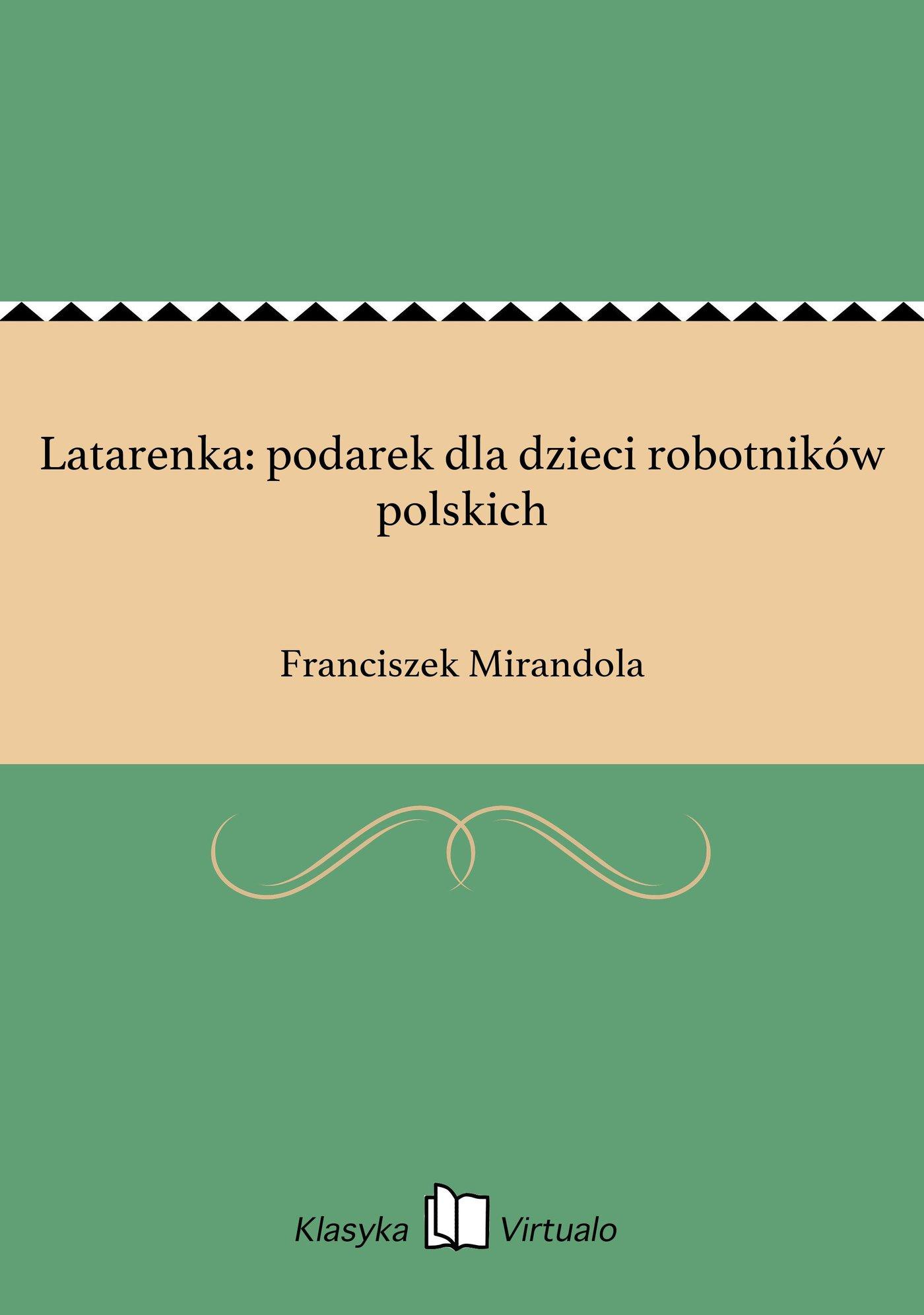 Latarenka: podarek dla dzieci robotników polskich - Ebook (Książka EPUB) do pobrania w formacie EPUB