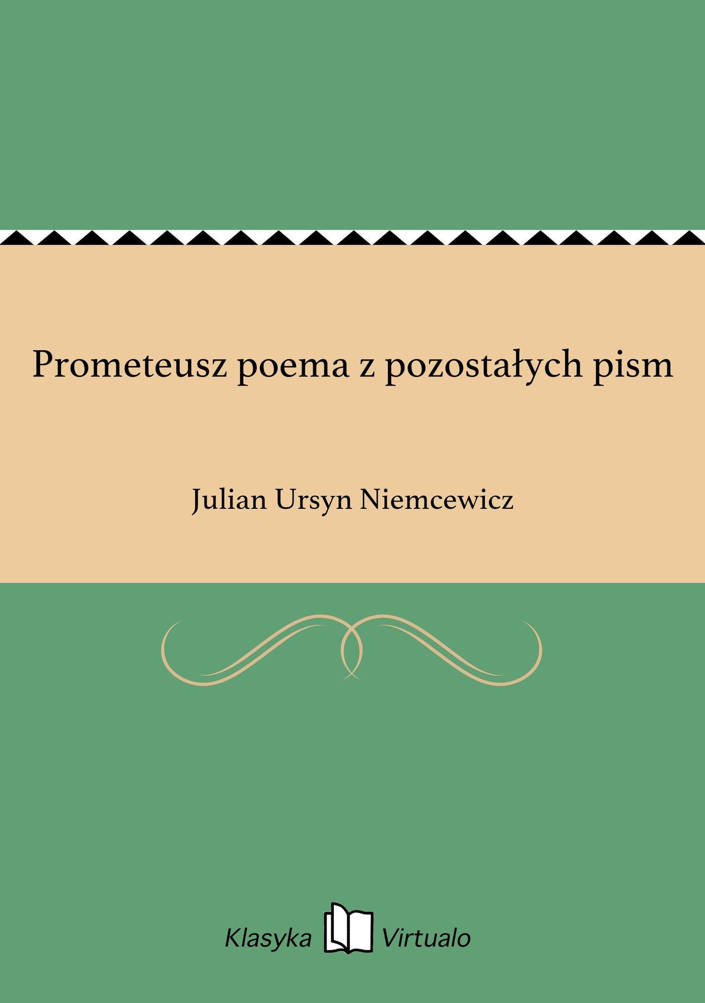 Prometeusz poema z pozostałych pism - Ebook (Książka EPUB) do pobrania w formacie EPUB