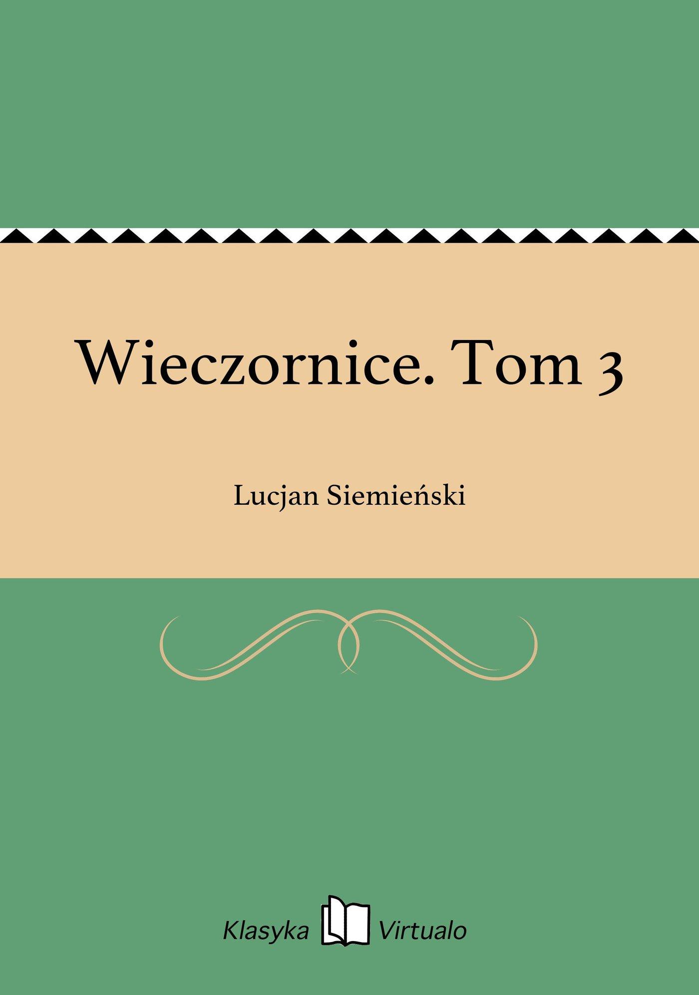 Wieczornice. Tom 3 - Ebook (Książka EPUB) do pobrania w formacie EPUB