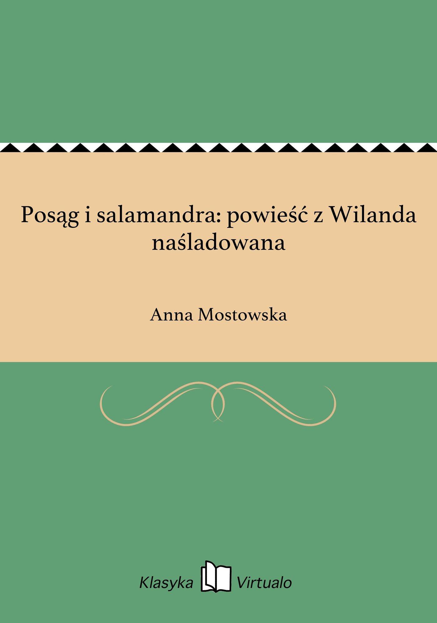 Posąg i salamandra: powieść z Wilanda naśladowana - Ebook (Książka EPUB) do pobrania w formacie EPUB