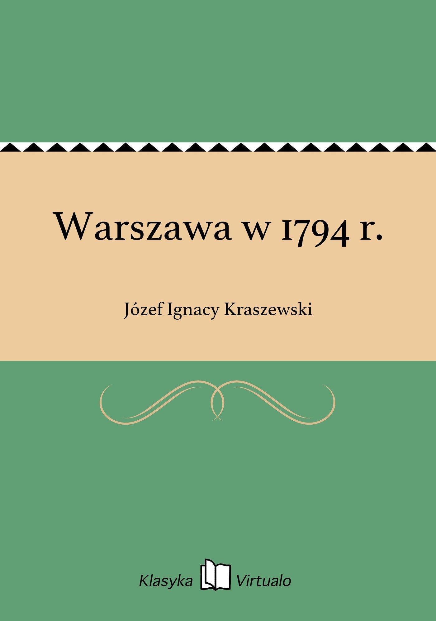 Warszawa w 1794 r. - Ebook (Książka EPUB) do pobrania w formacie EPUB