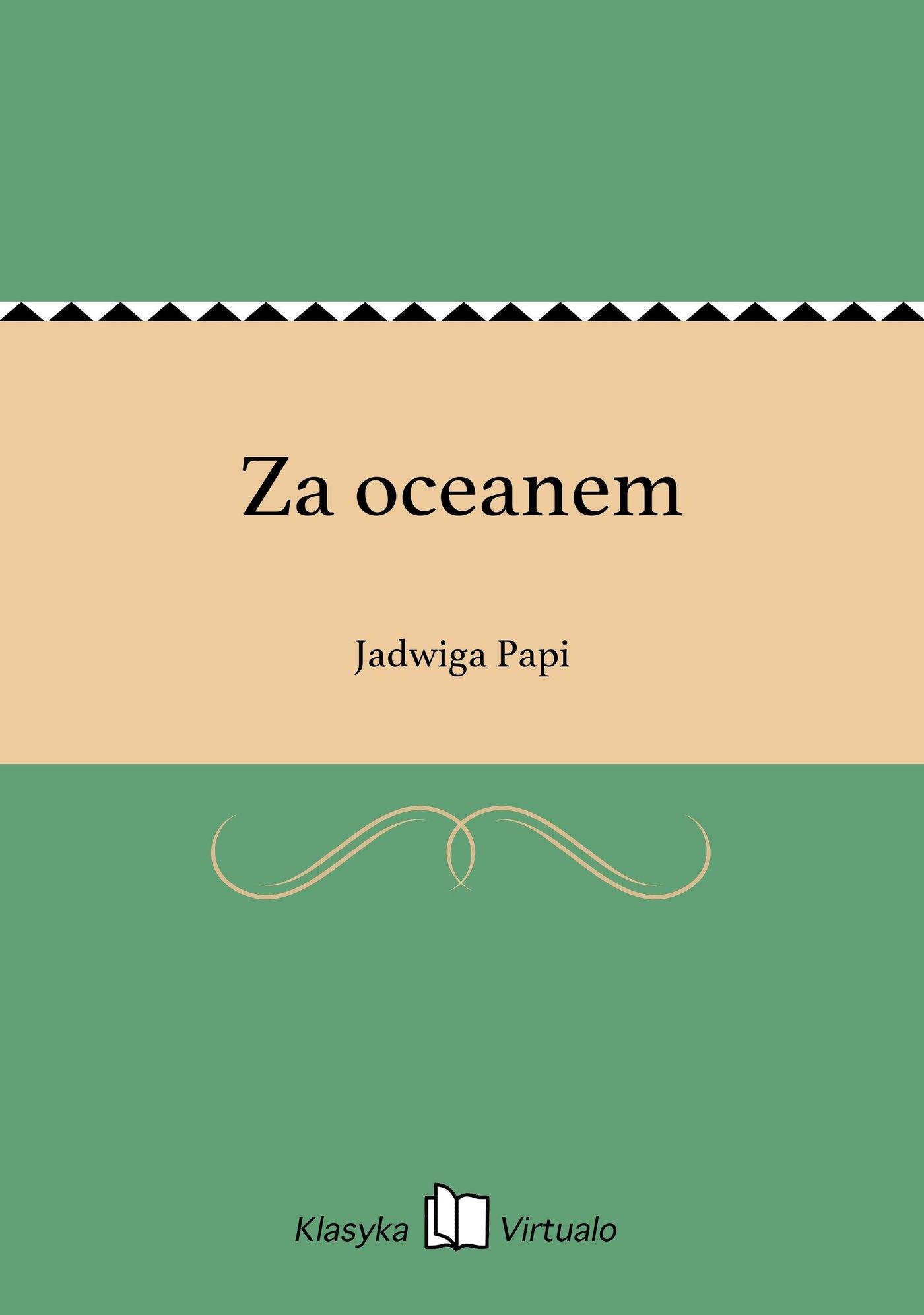 Za oceanem - Ebook (Książka EPUB) do pobrania w formacie EPUB