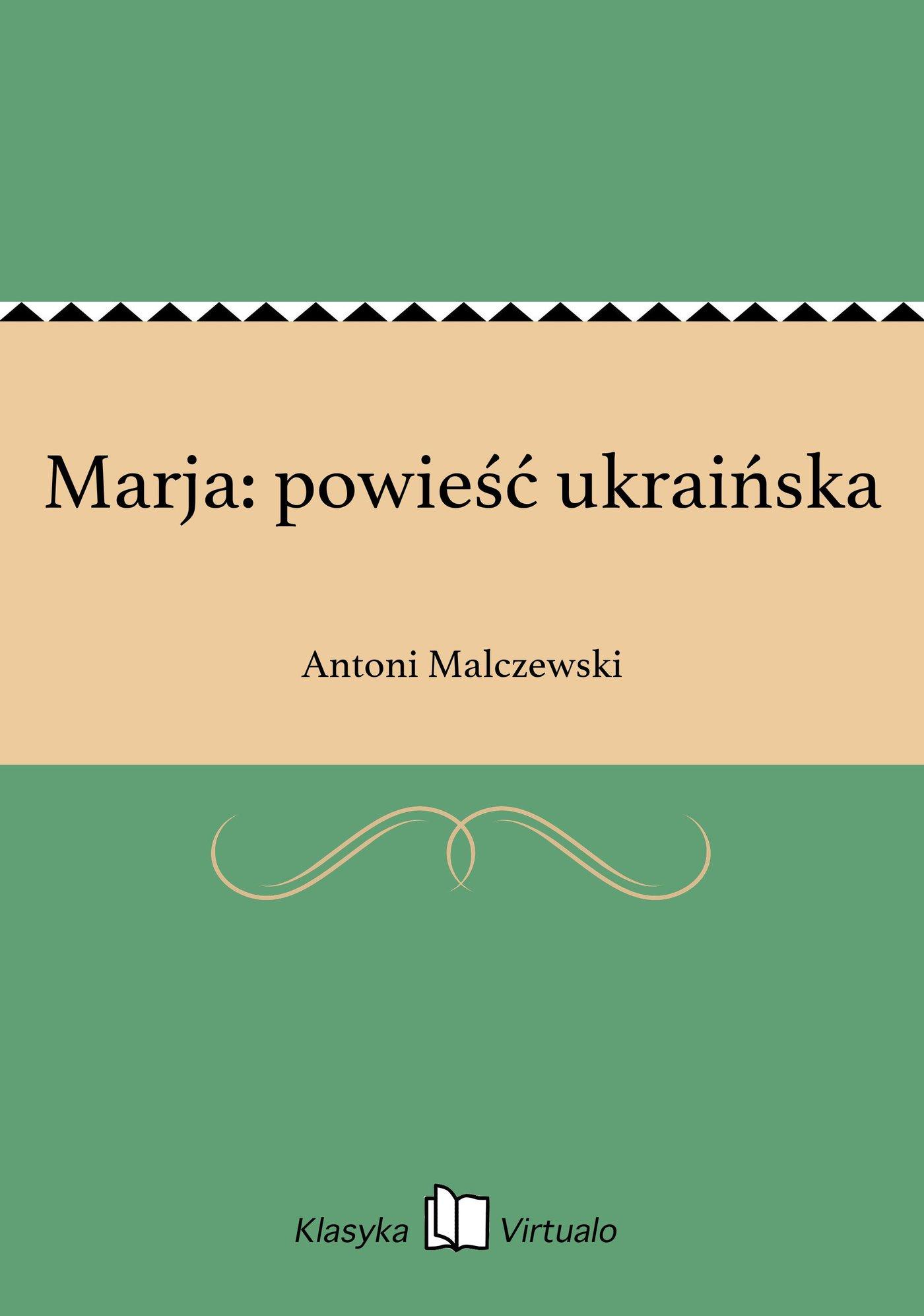 Marja: powieść ukraińska - Ebook (Książka EPUB) do pobrania w formacie EPUB