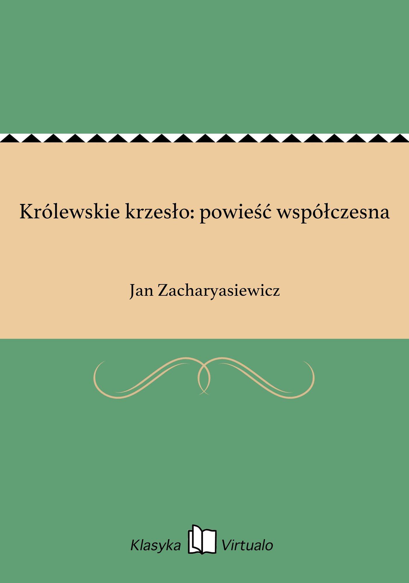 Królewskie krzesło: powieść współczesna - Ebook (Książka EPUB) do pobrania w formacie EPUB