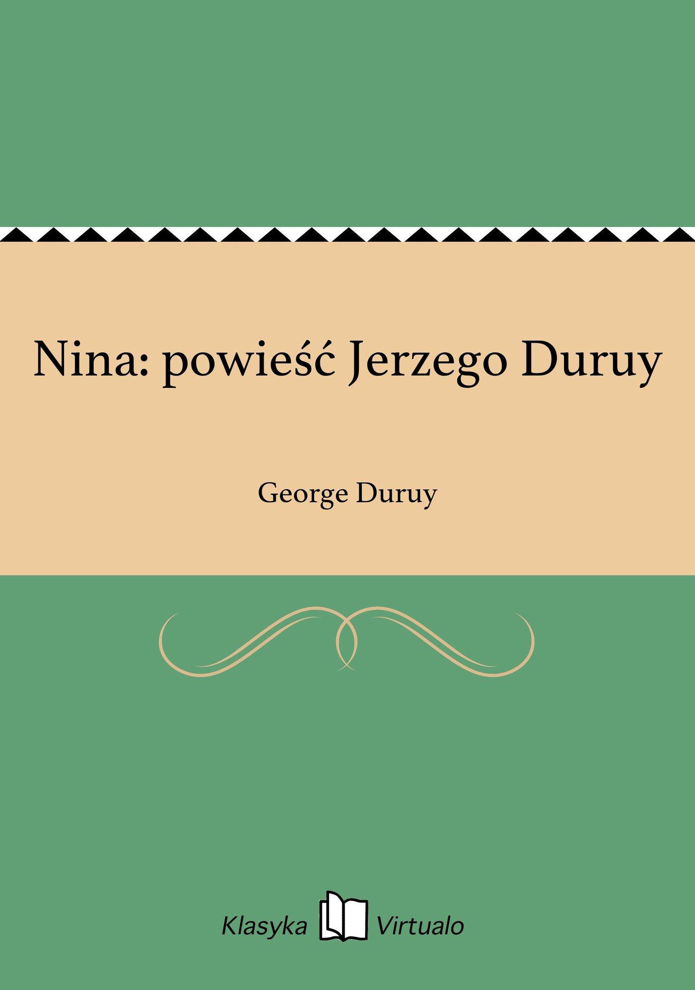 Nina: powieść Jerzego Duruy - Ebook (Książka EPUB) do pobrania w formacie EPUB