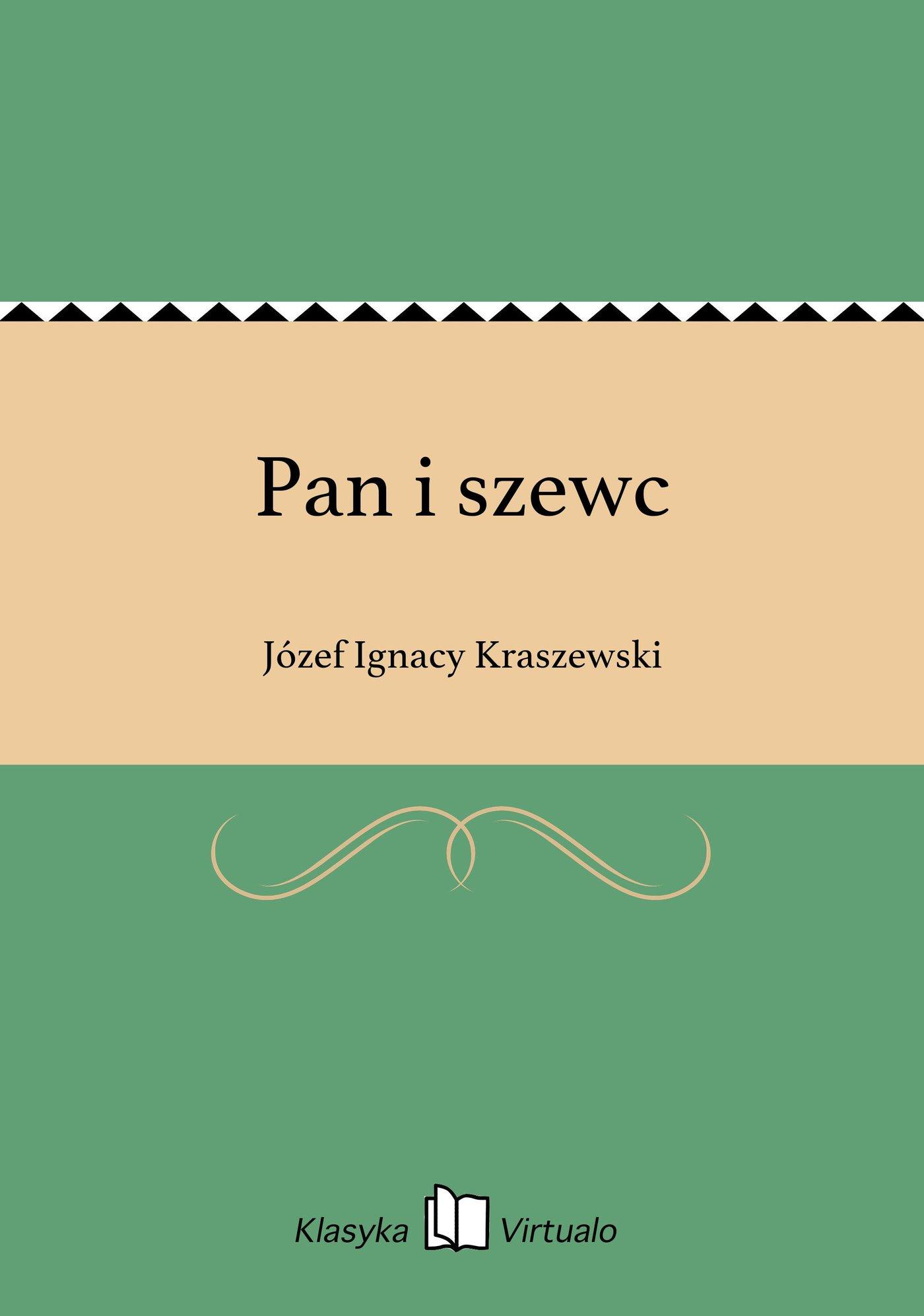 Pan i szewc - Ebook (Książka EPUB) do pobrania w formacie EPUB