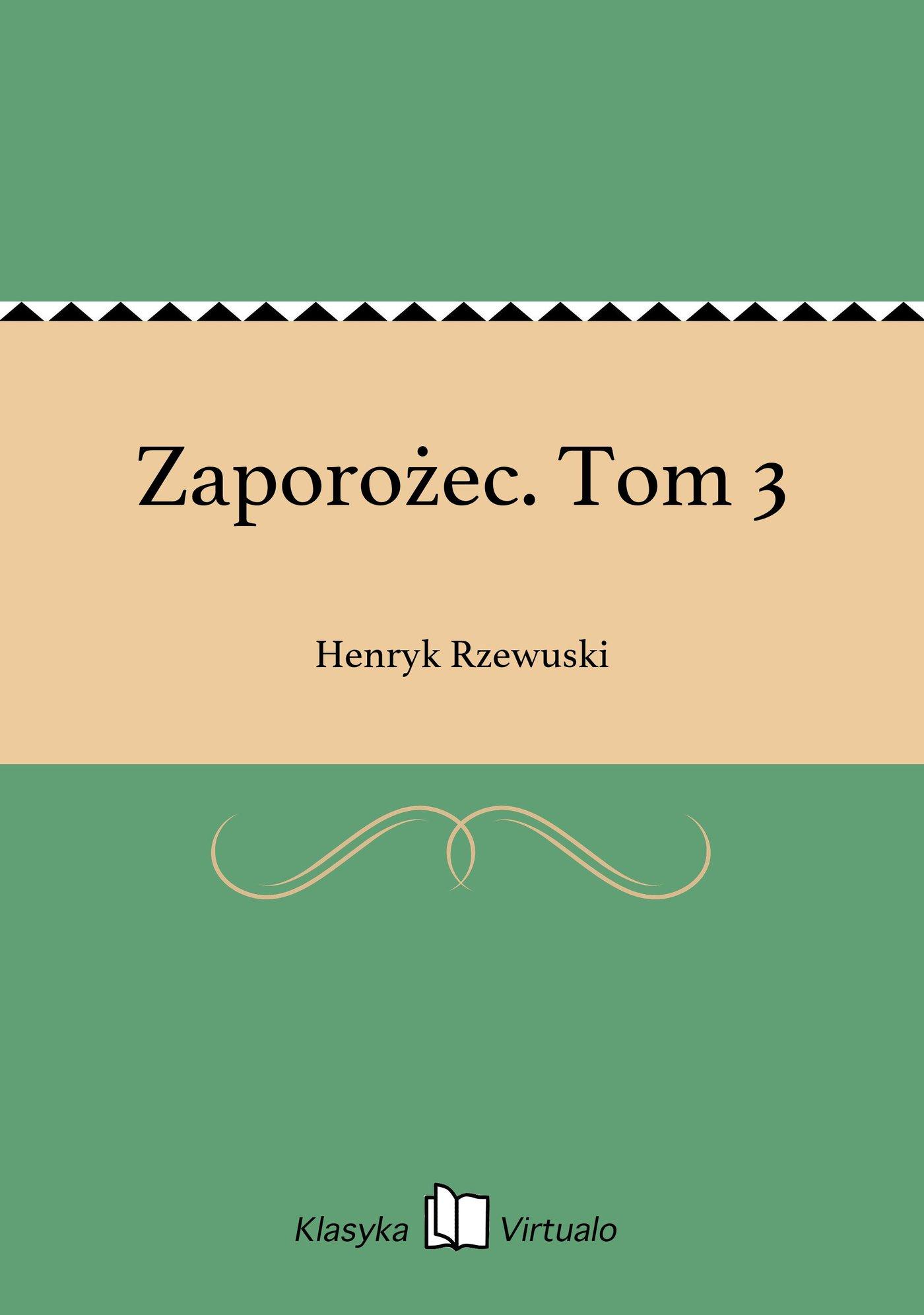 Zaporożec. Tom 3 - Ebook (Książka EPUB) do pobrania w formacie EPUB