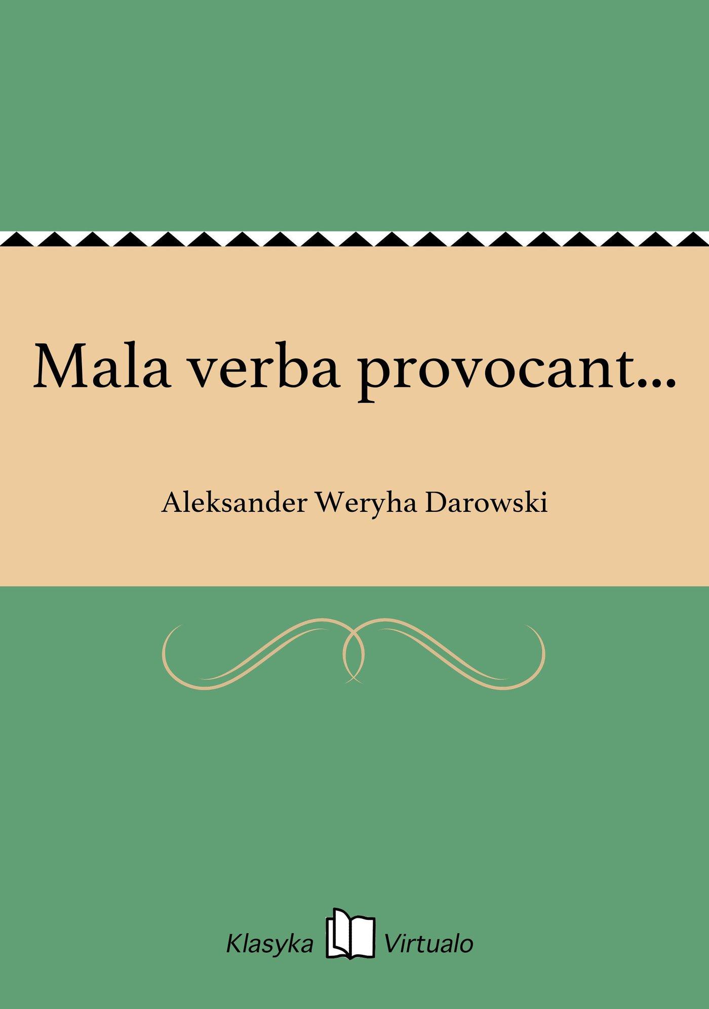 Mala verba provocant... - Ebook (Książka EPUB) do pobrania w formacie EPUB