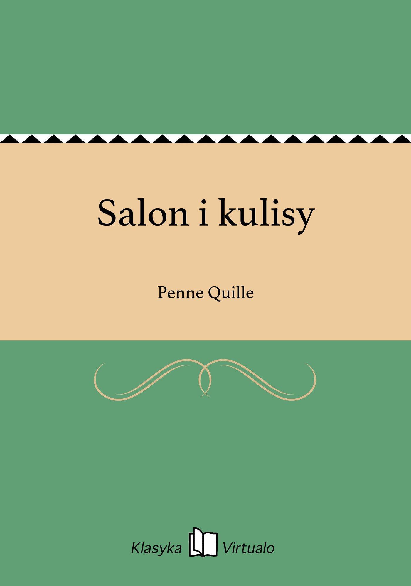 Salon i kulisy - Ebook (Książka EPUB) do pobrania w formacie EPUB