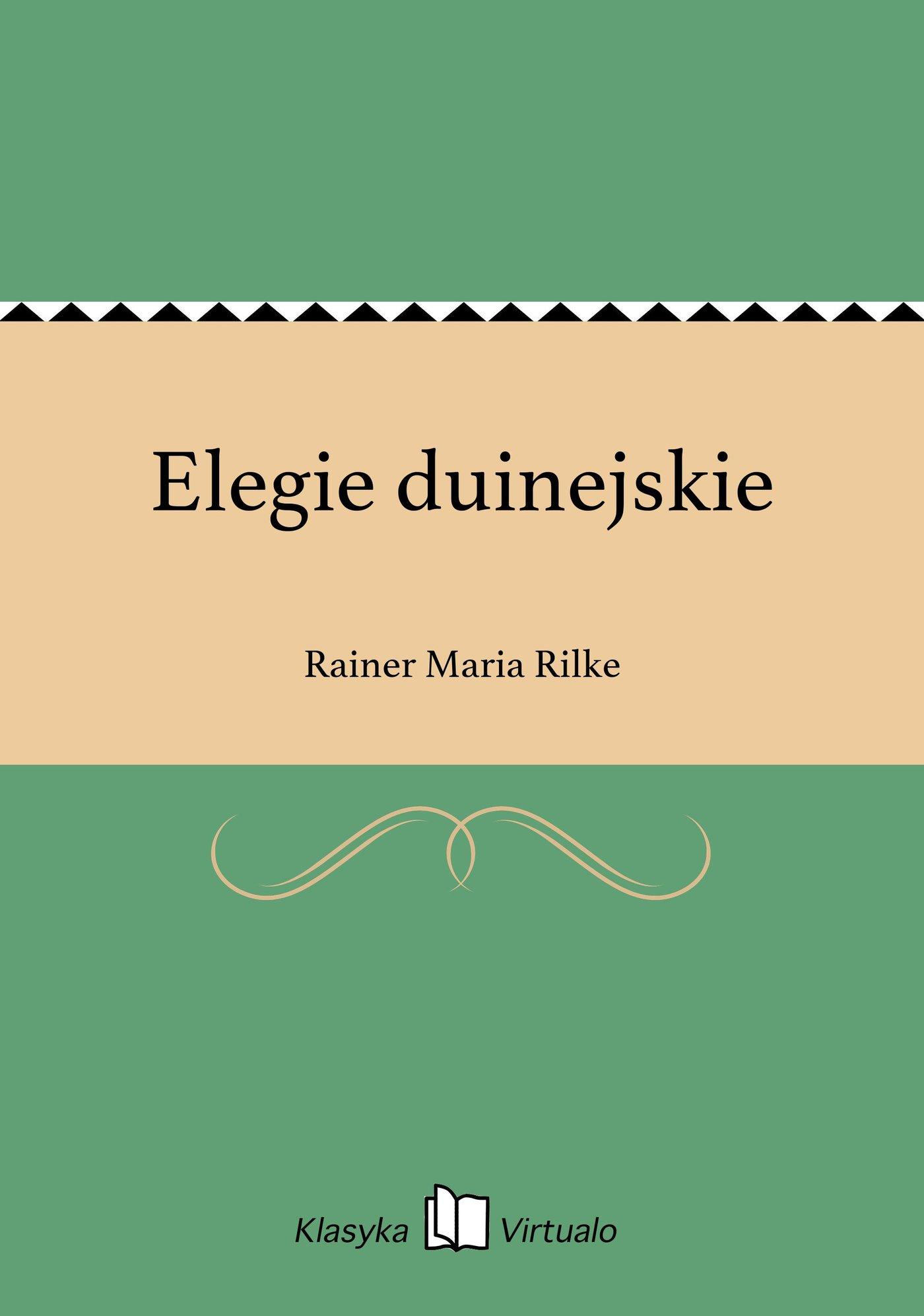 Elegie duinejskie - Ebook (Książka EPUB) do pobrania w formacie EPUB