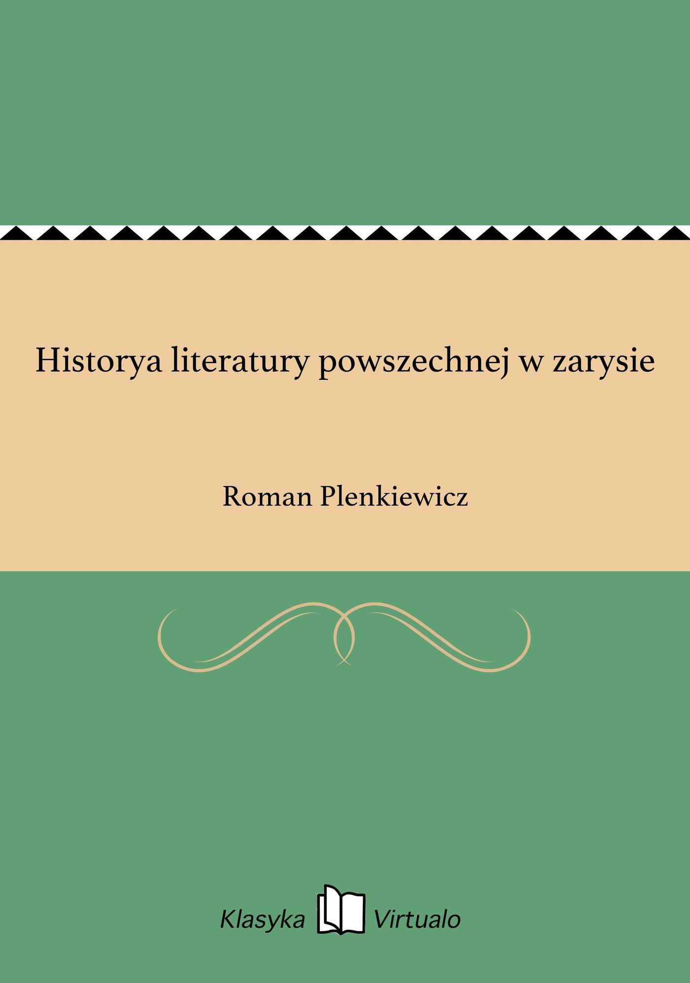 Historya literatury powszechnej w zarysie - Ebook (Książka EPUB) do pobrania w formacie EPUB