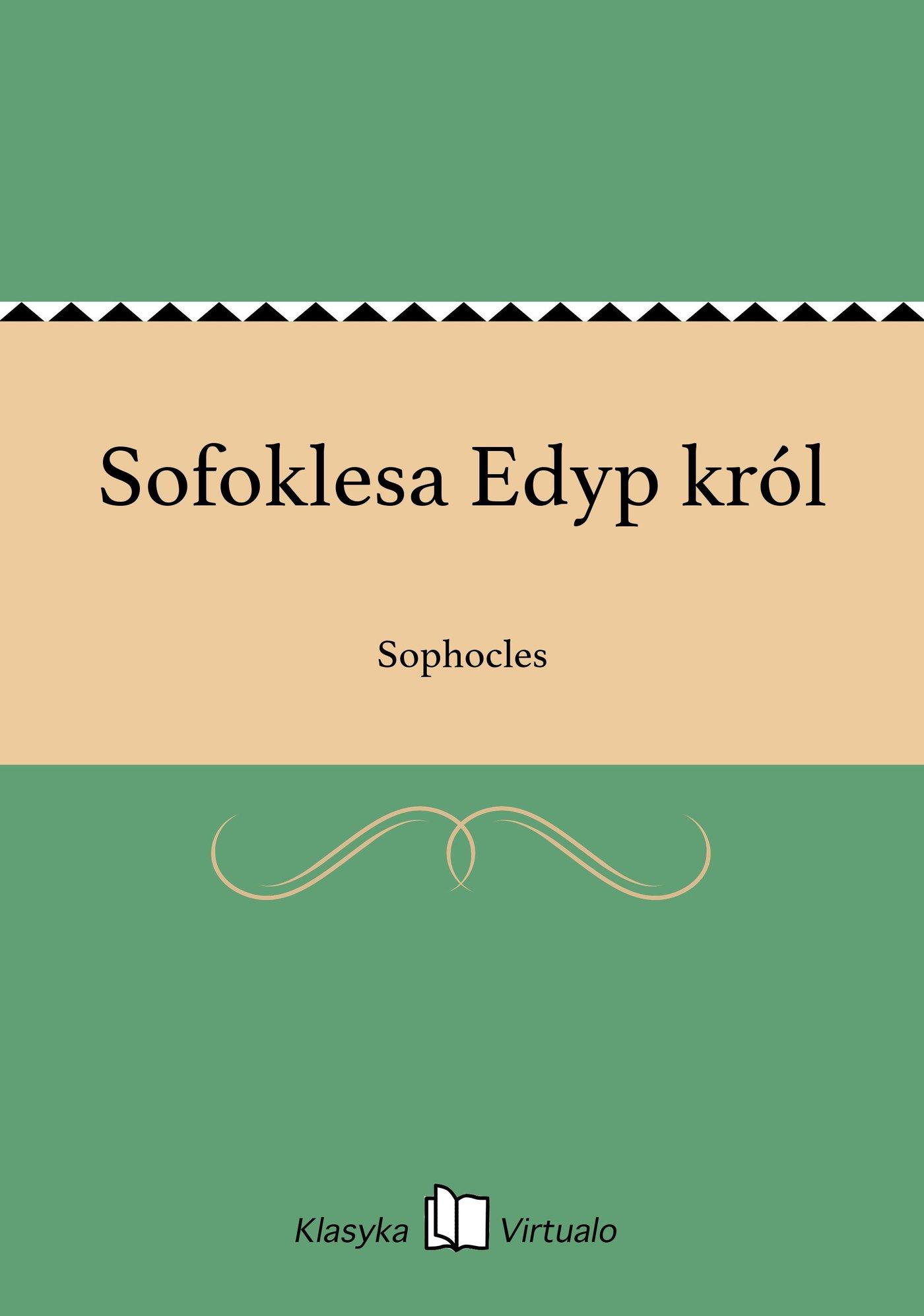Sofoklesa Edyp król - Ebook (Książka EPUB) do pobrania w formacie EPUB
