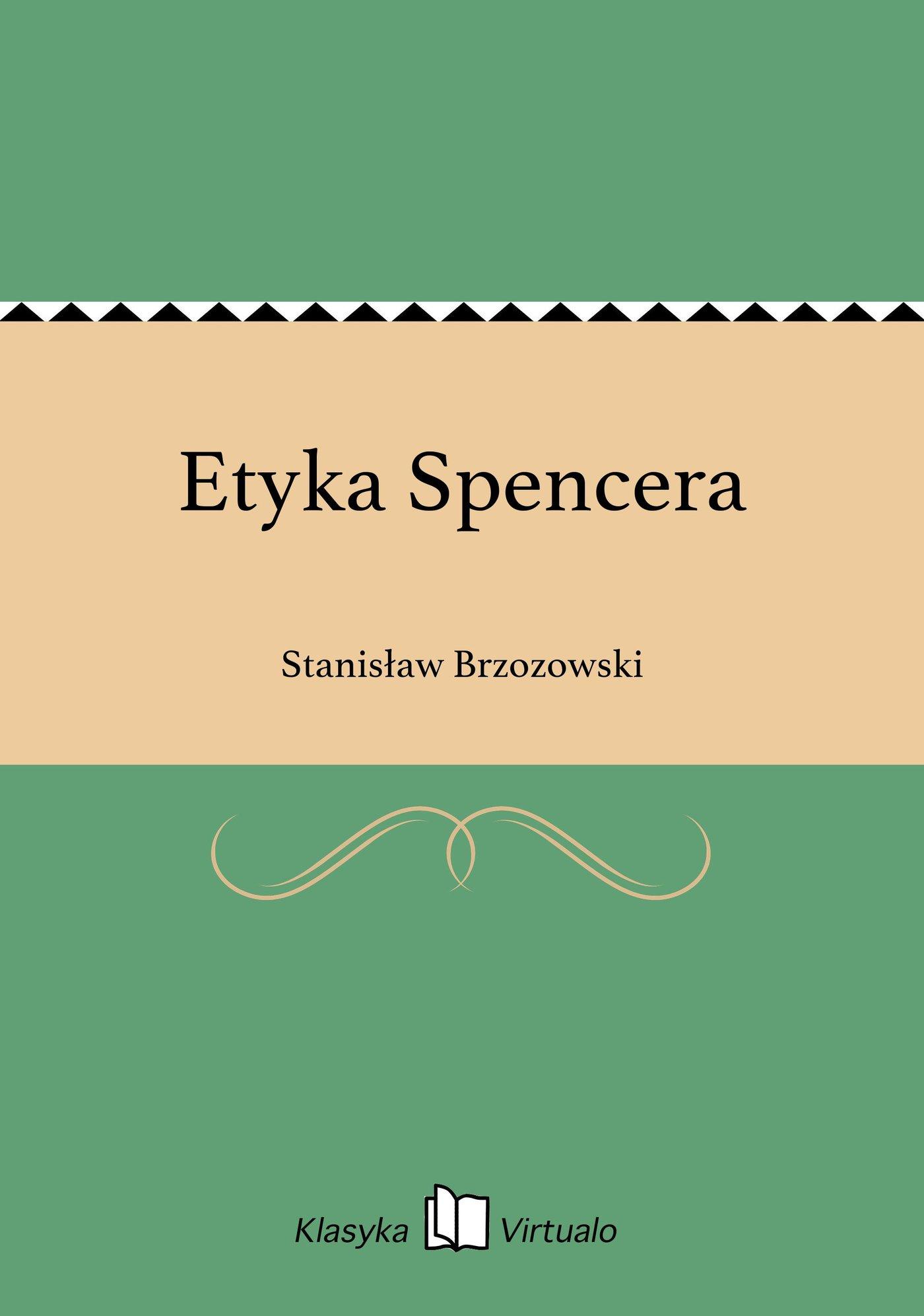 Etyka Spencera - Ebook (Książka EPUB) do pobrania w formacie EPUB