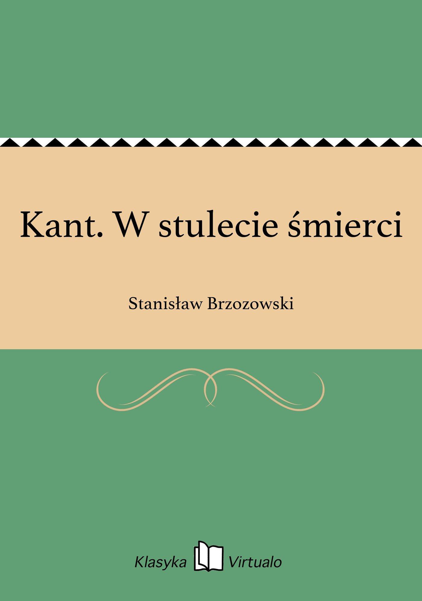 Kant. W stulecie śmierci - Ebook (Książka EPUB) do pobrania w formacie EPUB