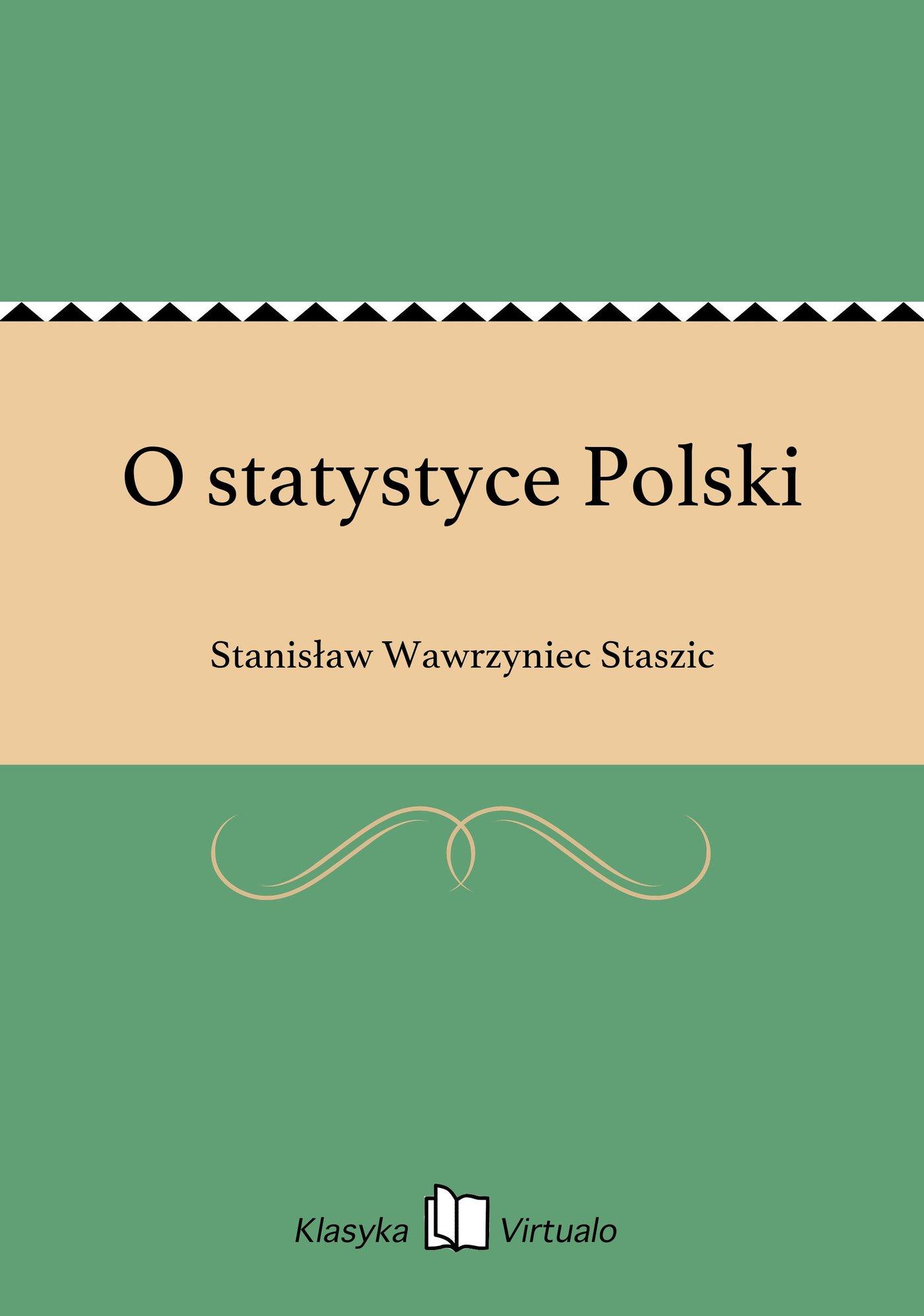 O statystyce Polski - Ebook (Książka EPUB) do pobrania w formacie EPUB