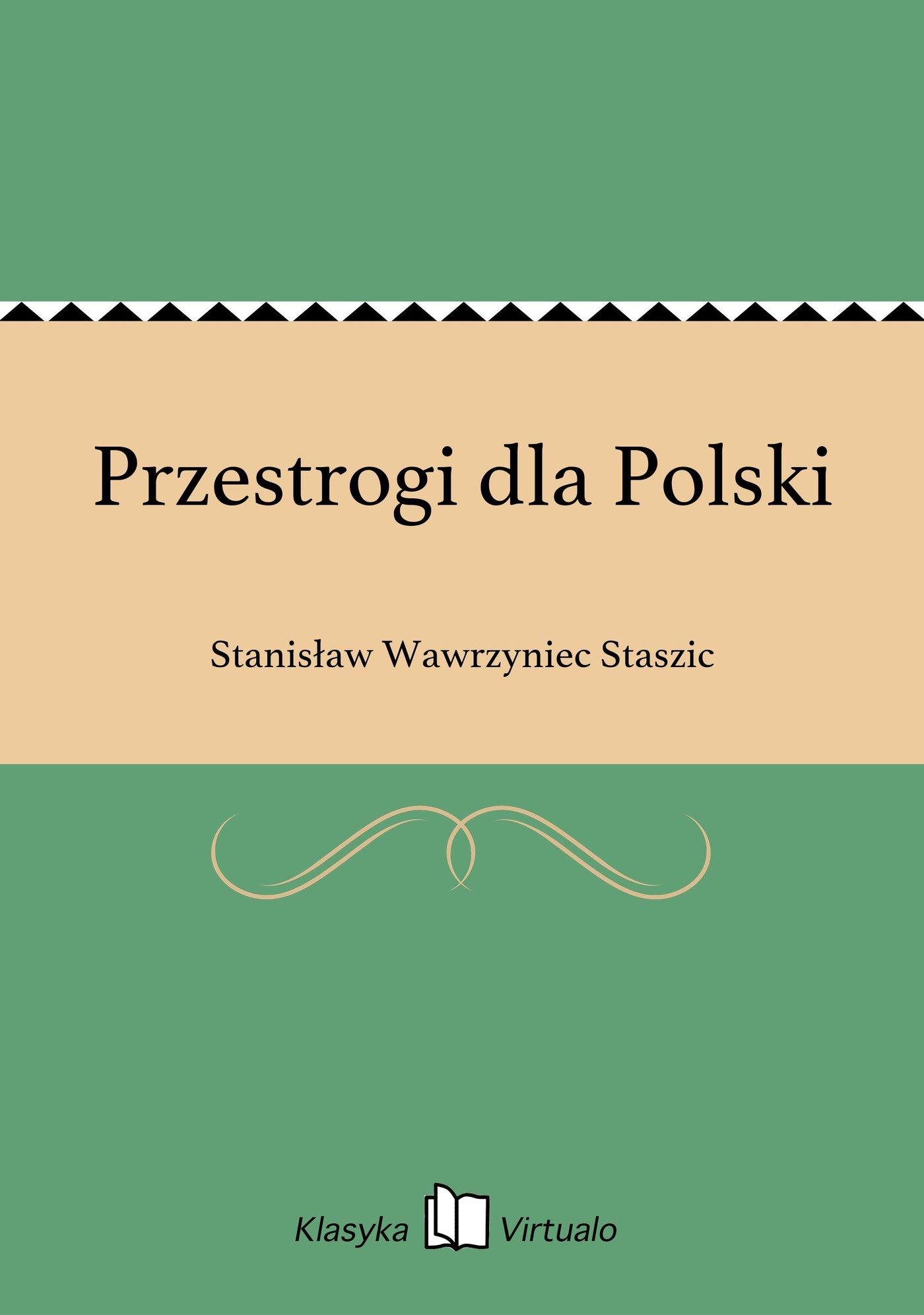 Przestrogi dla Polski - Ebook (Książka EPUB) do pobrania w formacie EPUB