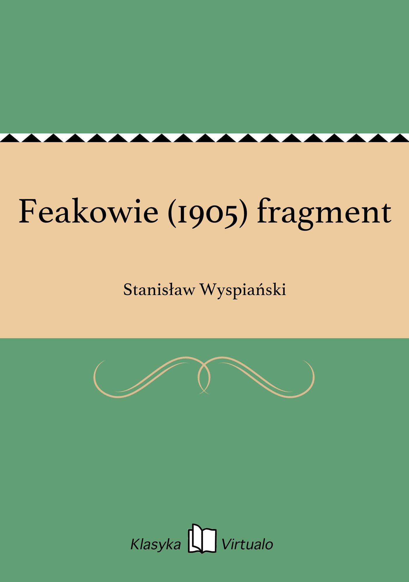 Feakowie (1905) fragment - Ebook (Książka EPUB) do pobrania w formacie EPUB