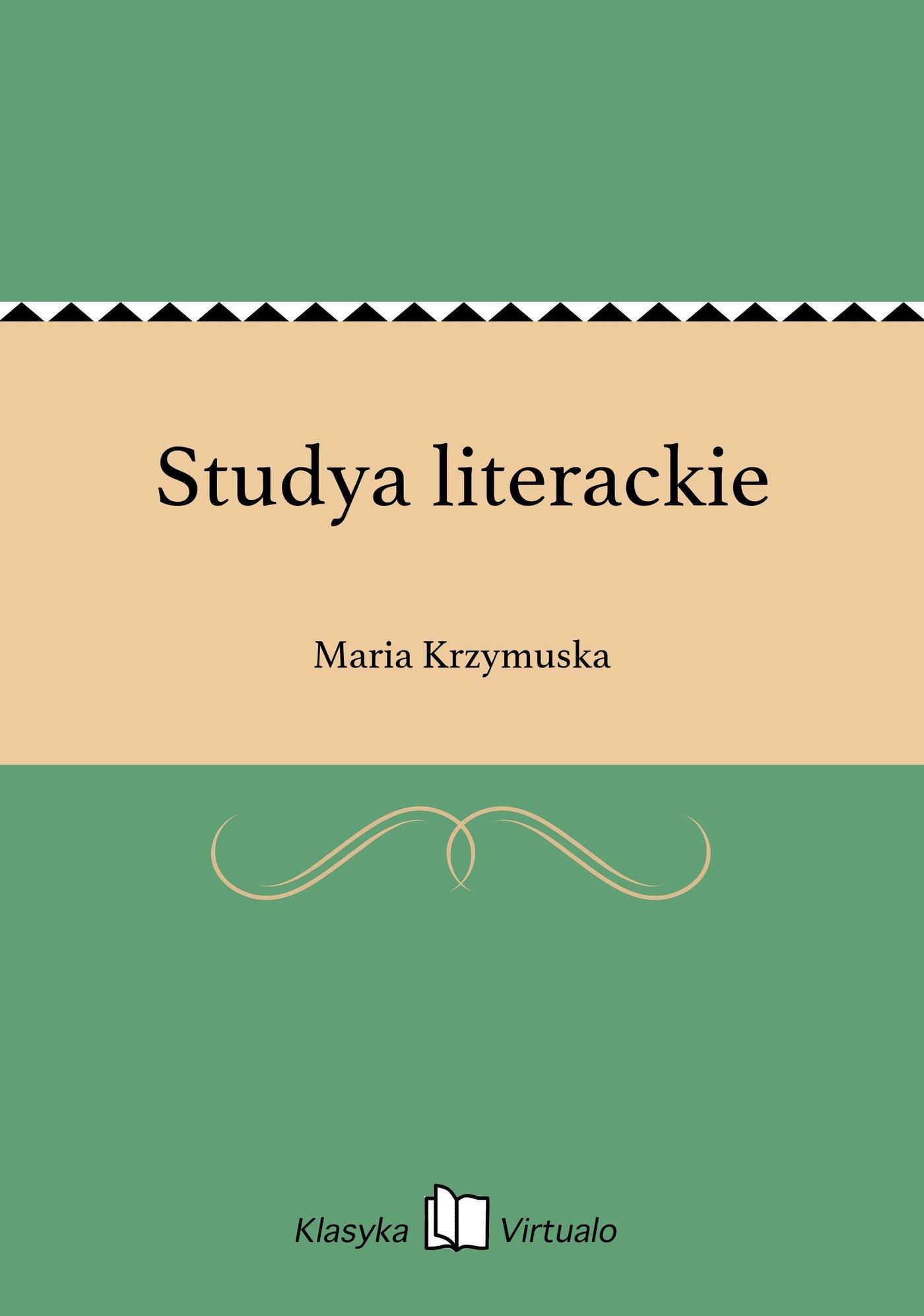 Studya literackie - Ebook (Książka EPUB) do pobrania w formacie EPUB
