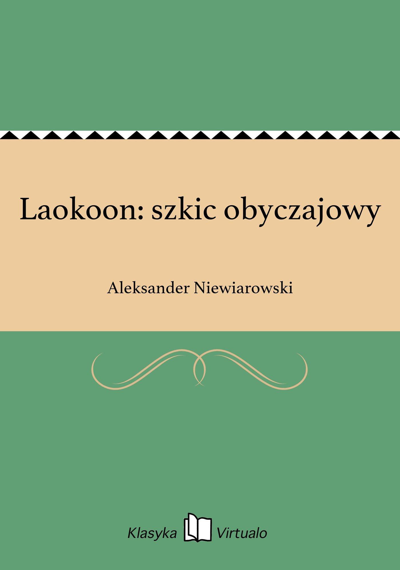 Laokoon: szkic obyczajowy - Ebook (Książka EPUB) do pobrania w formacie EPUB