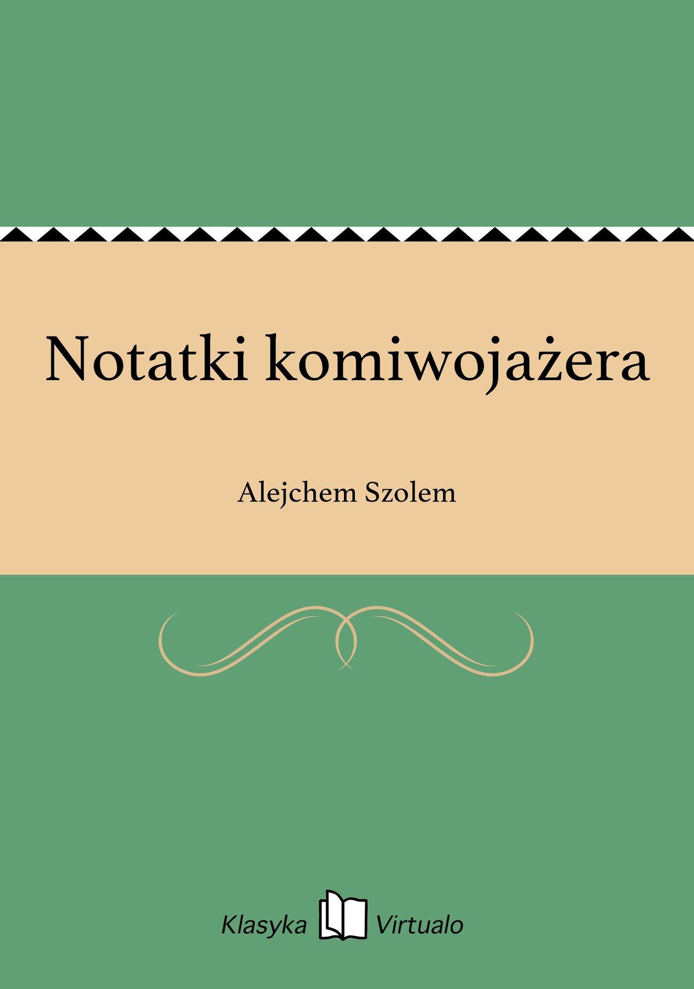 Notatki komiwojażera - Ebook (Książka EPUB) do pobrania w formacie EPUB