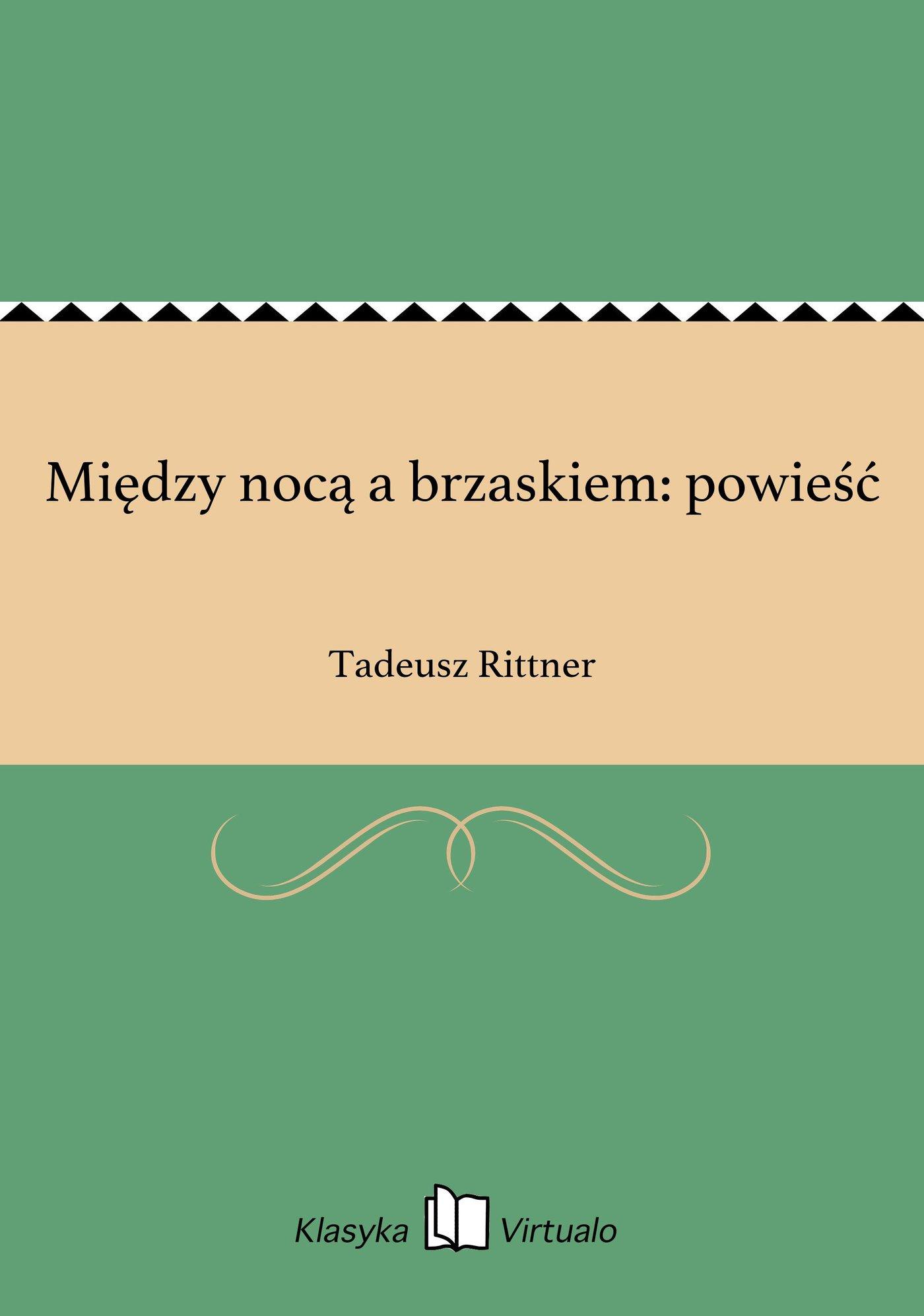 Między nocą a brzaskiem: powieść - Ebook (Książka EPUB) do pobrania w formacie EPUB