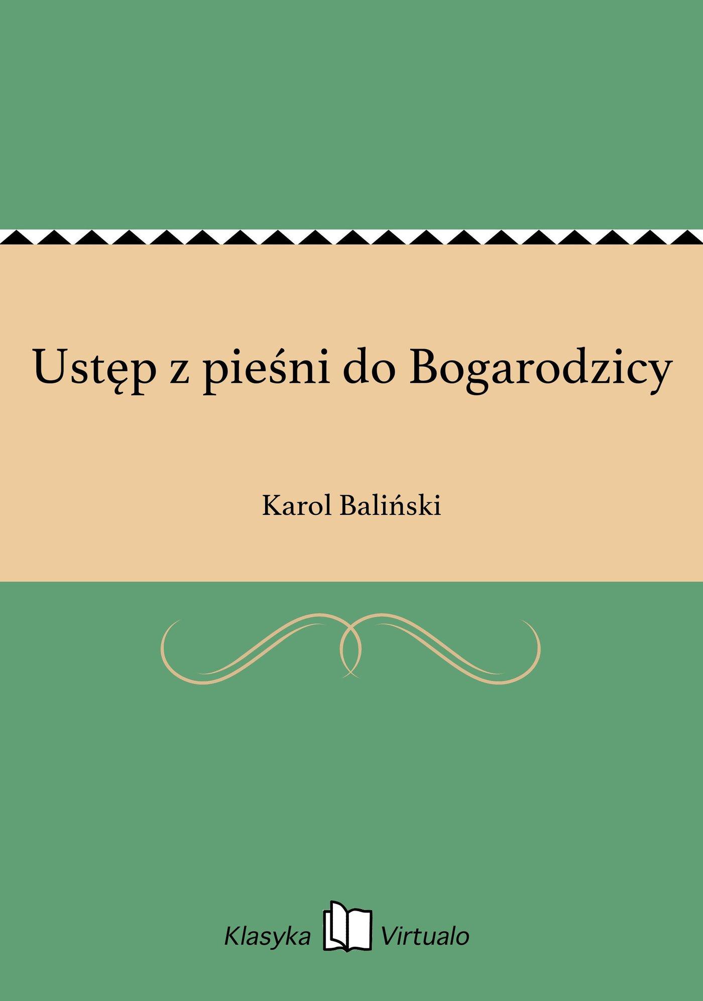 Ustęp z pieśni do Bogarodzicy - Ebook (Książka EPUB) do pobrania w formacie EPUB