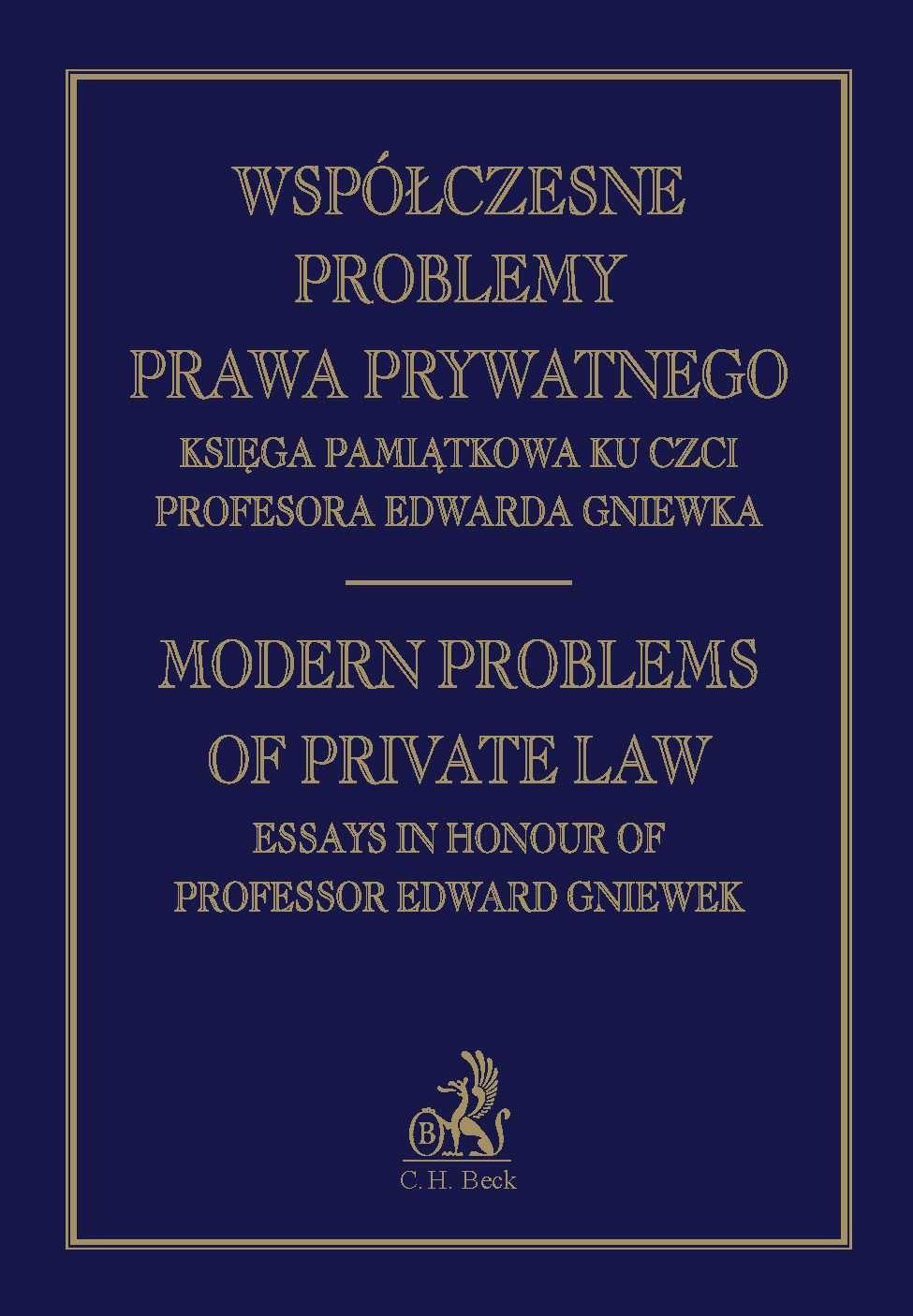 Współczesne problemy prawa prywatnego Księga Pamiątkowa Profesora Edwarda Gniewka - Ebook (Książka PDF) do pobrania w formacie PDF