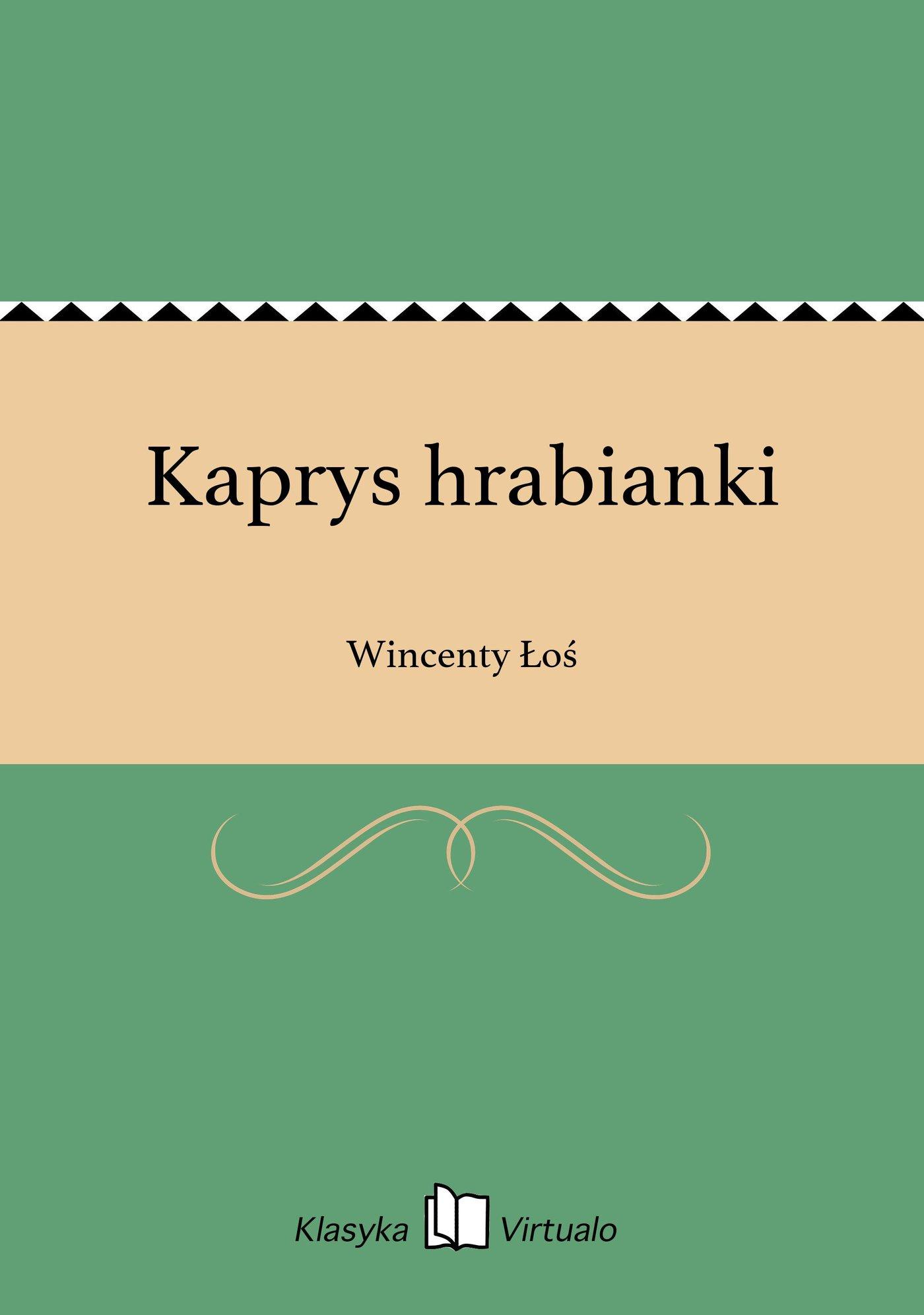 Kaprys hrabianki - Ebook (Książka EPUB) do pobrania w formacie EPUB