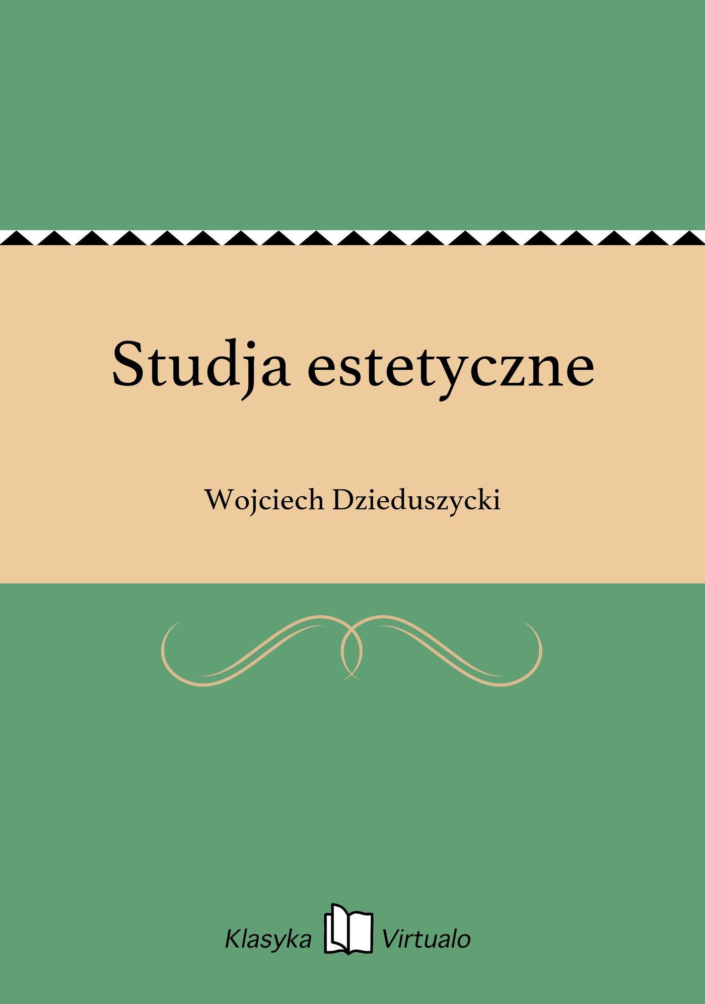 Studja estetyczne - Ebook (Książka EPUB) do pobrania w formacie EPUB