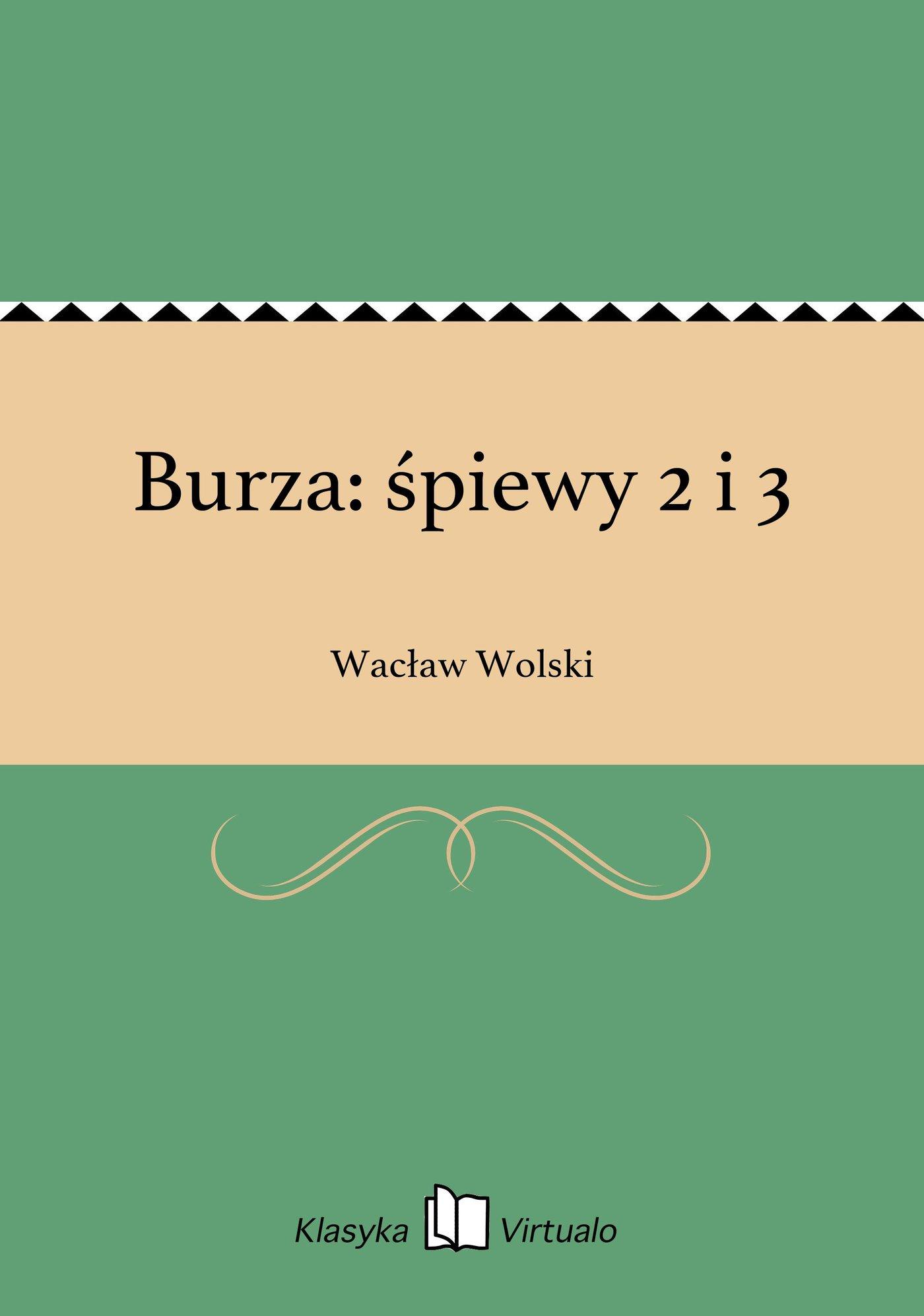 Burza: śpiewy 2 i 3 - Ebook (Książka EPUB) do pobrania w formacie EPUB