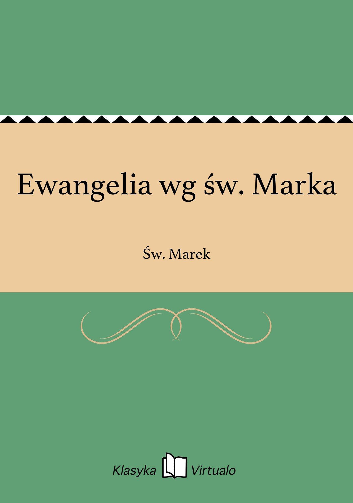 Ewangelia wg św. Marka - Ebook (Książka EPUB) do pobrania w formacie EPUB