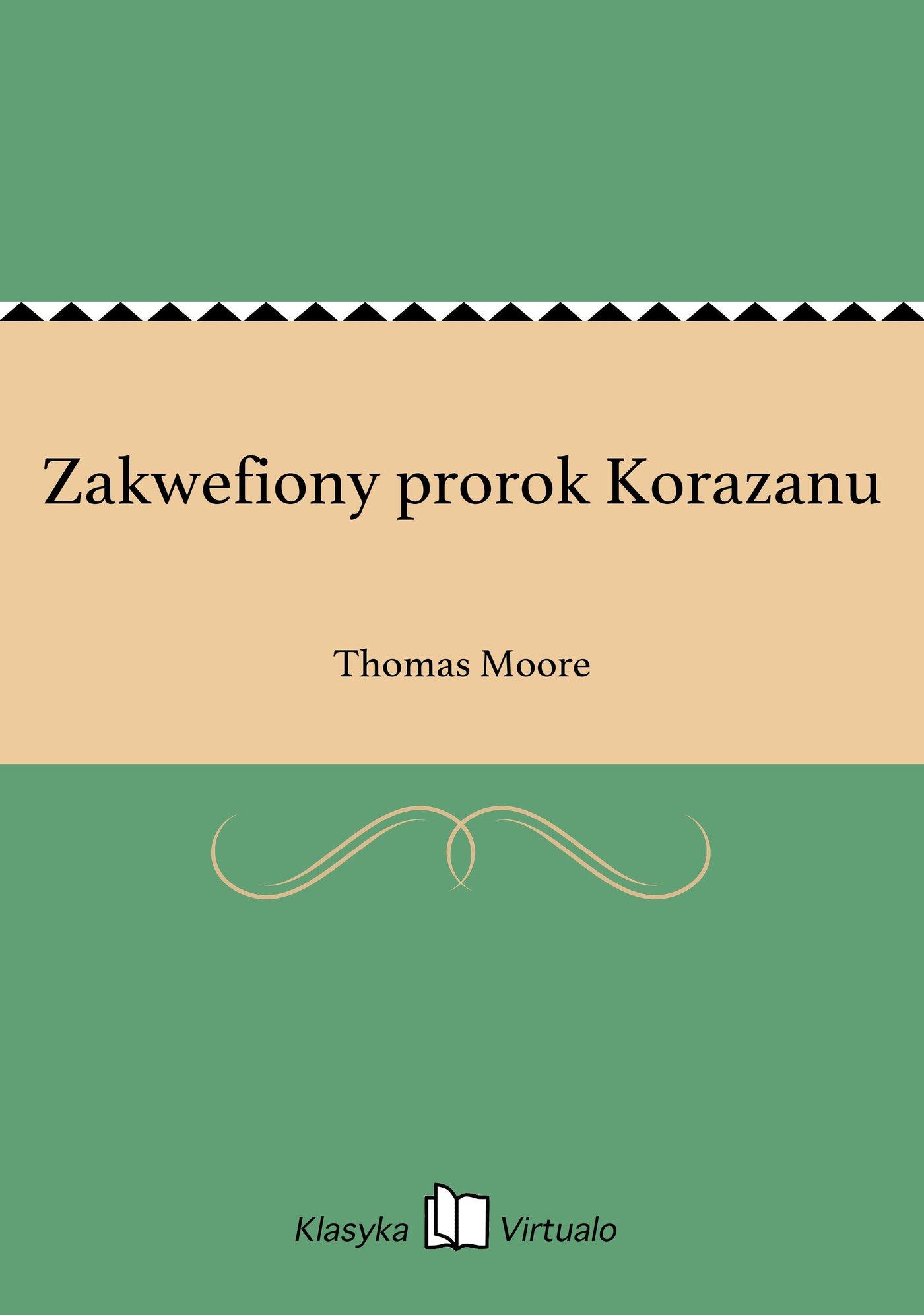 Zakwefiony prorok Korazanu - Ebook (Książka EPUB) do pobrania w formacie EPUB