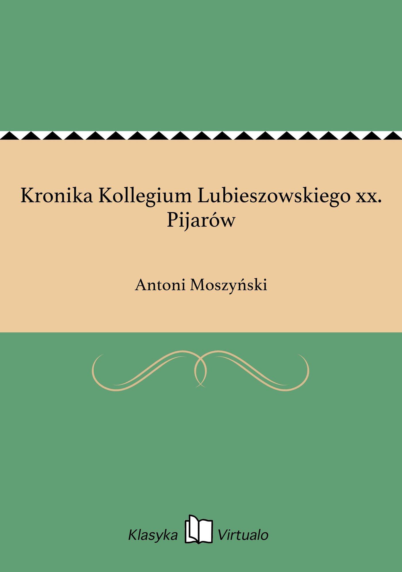 Kronika Kollegium Lubieszowskiego xx. Pijarów - Ebook (Książka EPUB) do pobrania w formacie EPUB