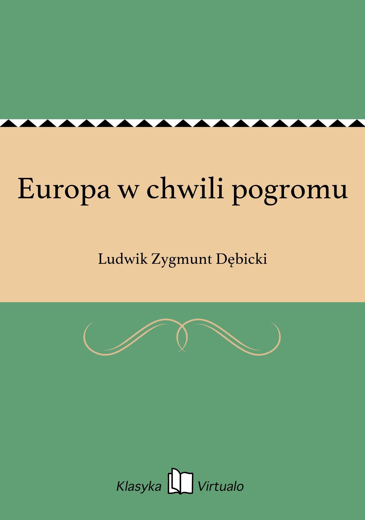 Europa w chwili pogromu - Ebook (Książka EPUB) do pobrania w formacie EPUB