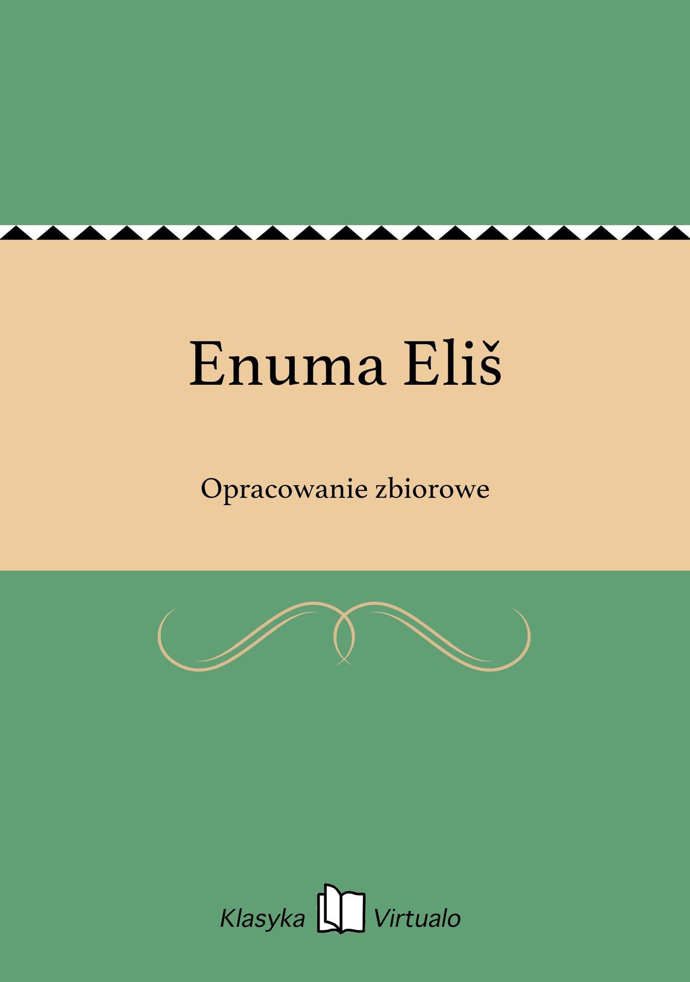 Enuma Eliš - Ebook (Książka EPUB) do pobrania w formacie EPUB