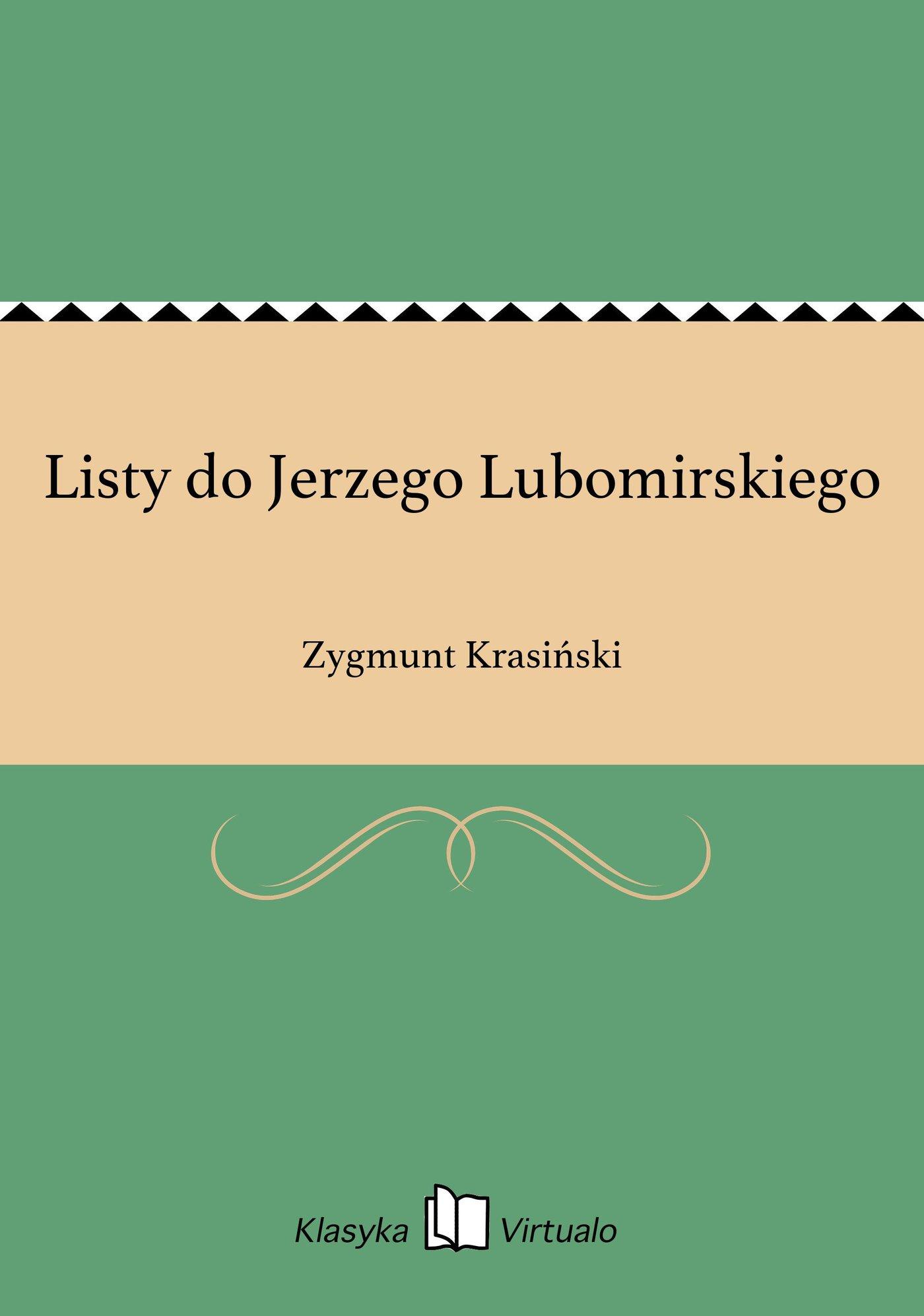 Listy do Jerzego Lubomirskiego - Ebook (Książka EPUB) do pobrania w formacie EPUB