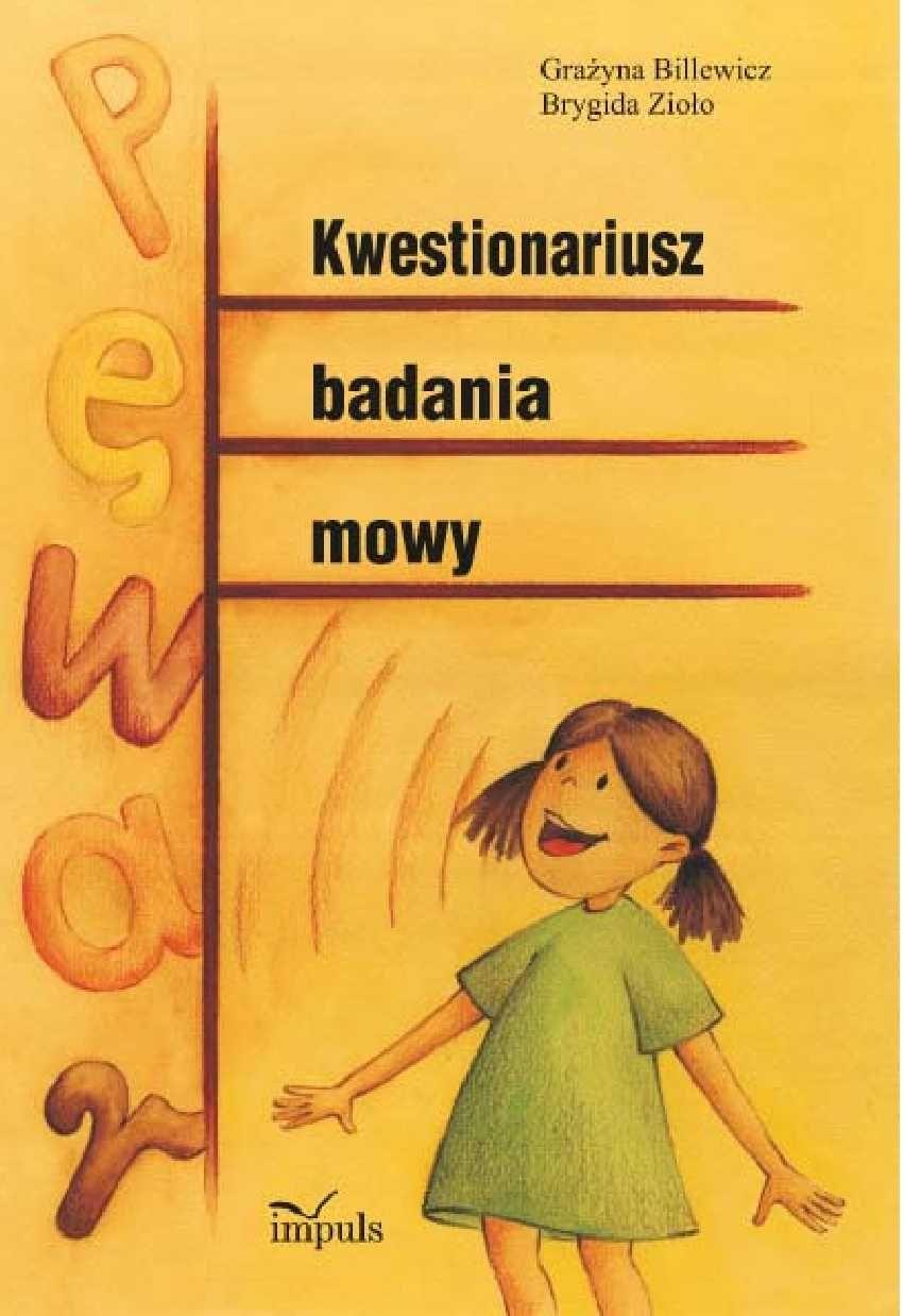 Kwestionariusz badania mowy - Ebook (Książka PDF) do pobrania w formacie PDF