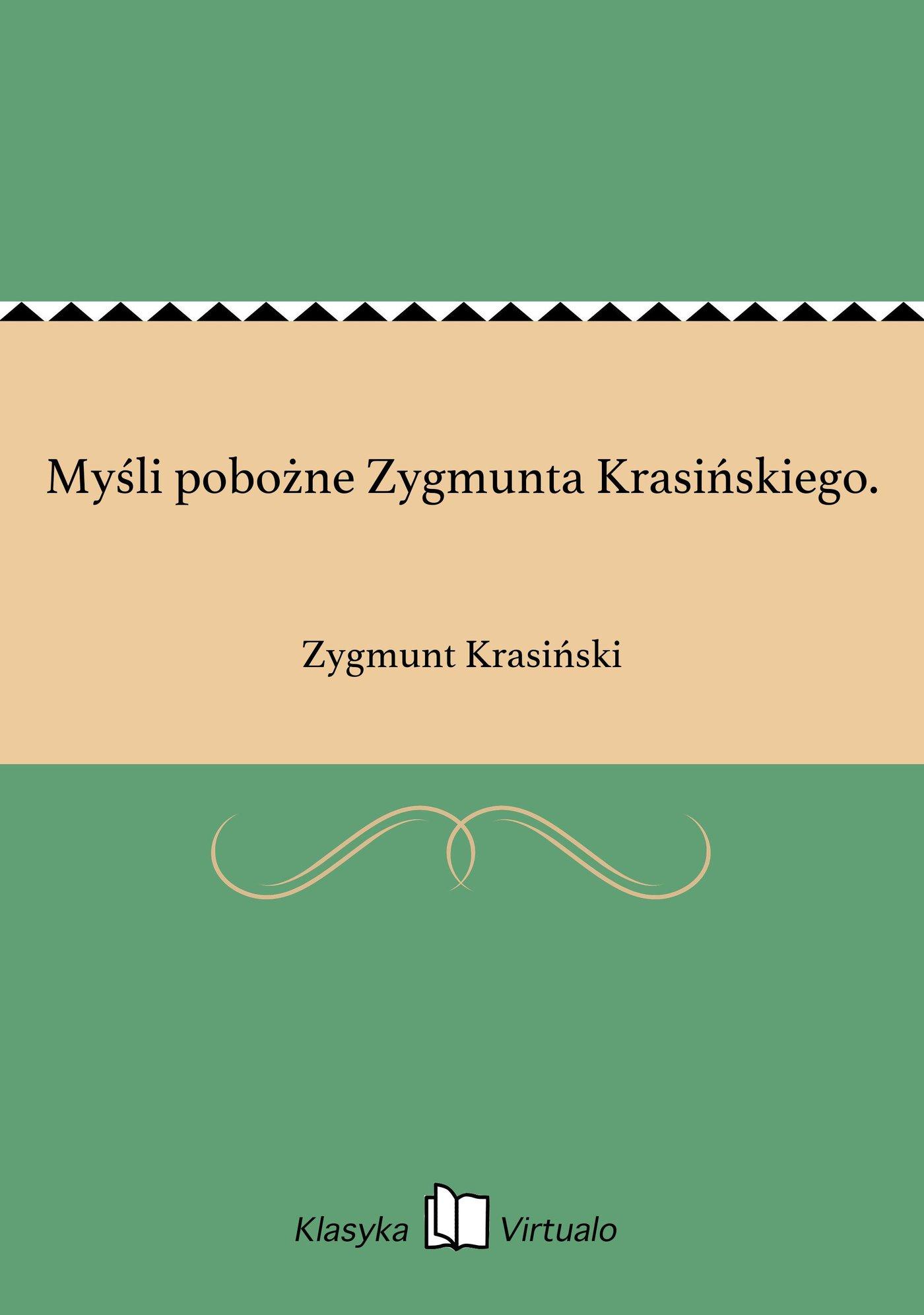 Myśli pobożne Zygmunta Krasińskiego. - Ebook (Książka EPUB) do pobrania w formacie EPUB