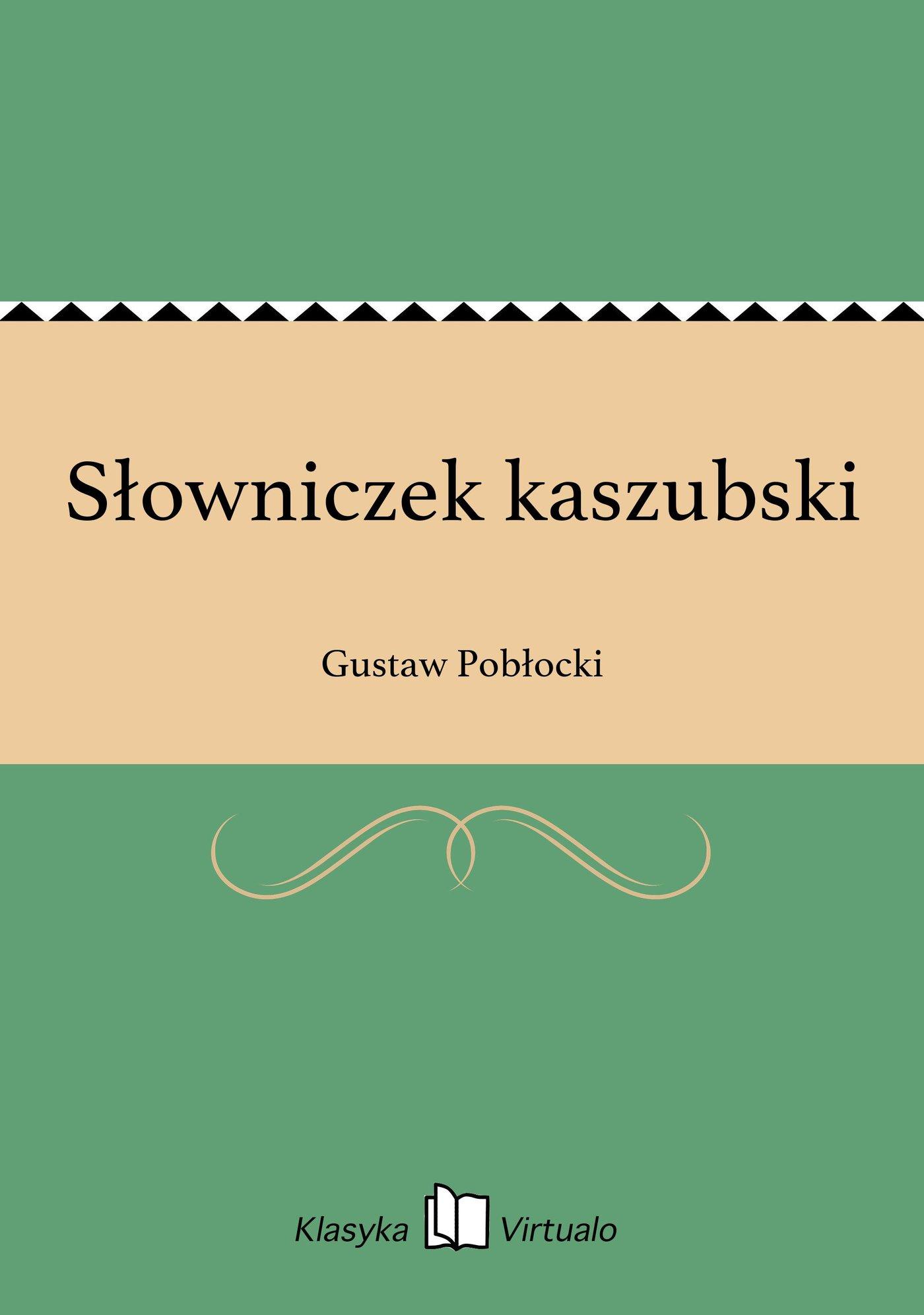 Słowniczek kaszubski - Ebook (Książka EPUB) do pobrania w formacie EPUB