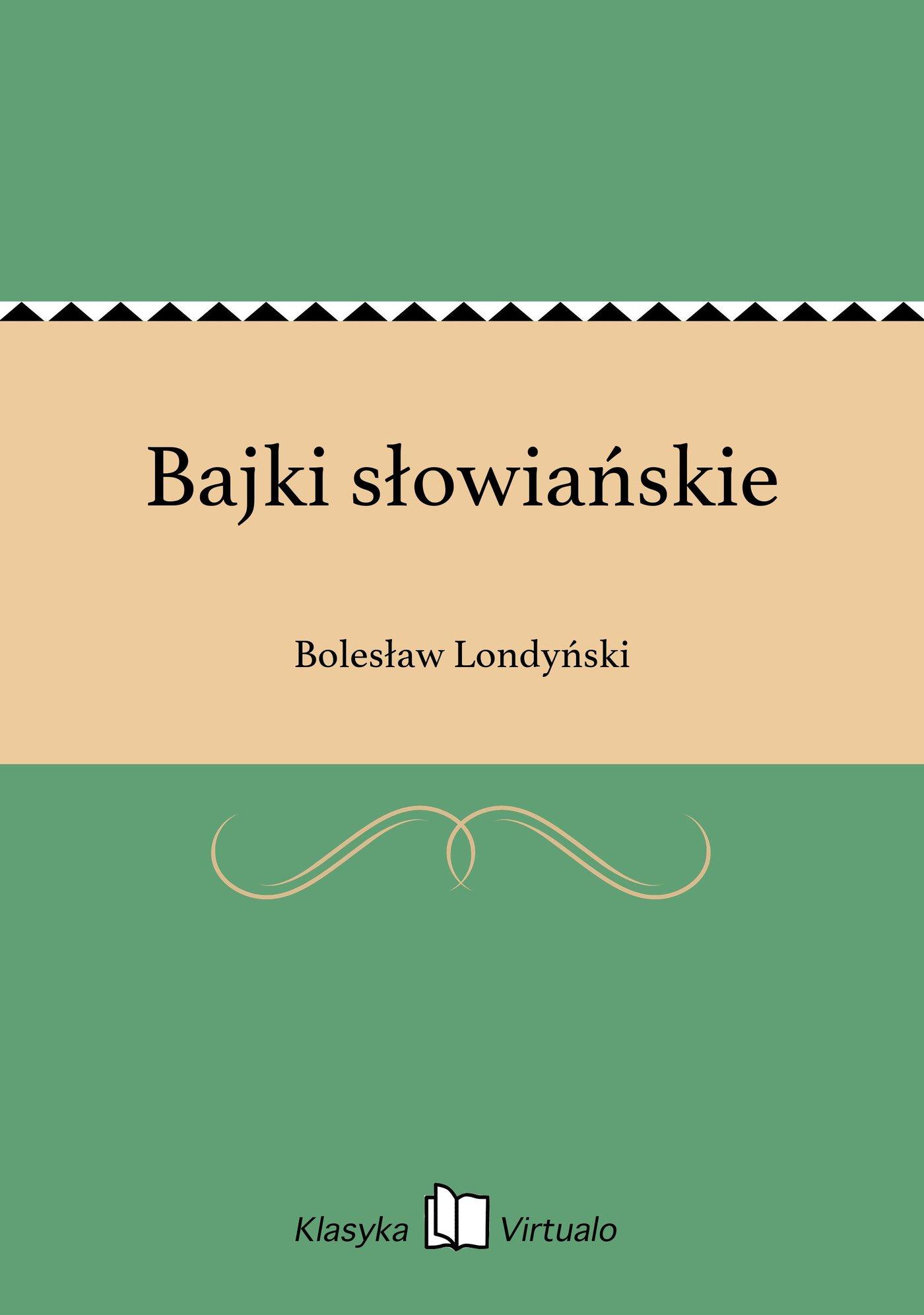 Bajki słowiańskie - Ebook (Książka EPUB) do pobrania w formacie EPUB