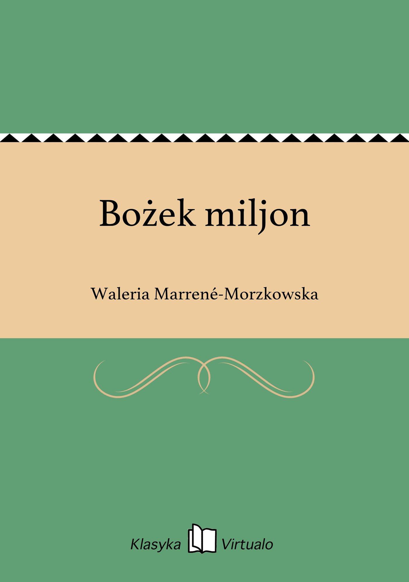 Bożek miljon - Ebook (Książka EPUB) do pobrania w formacie EPUB