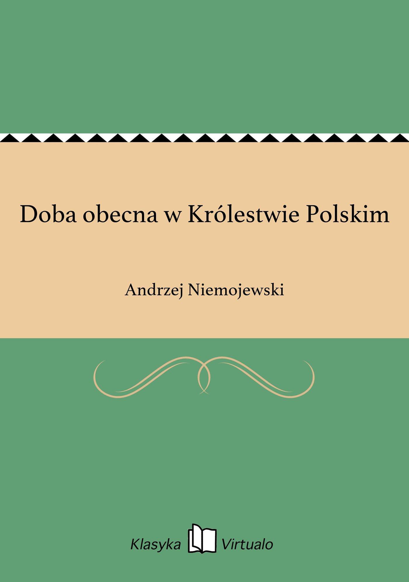 Doba obecna w Królestwie Polskim - Ebook (Książka EPUB) do pobrania w formacie EPUB