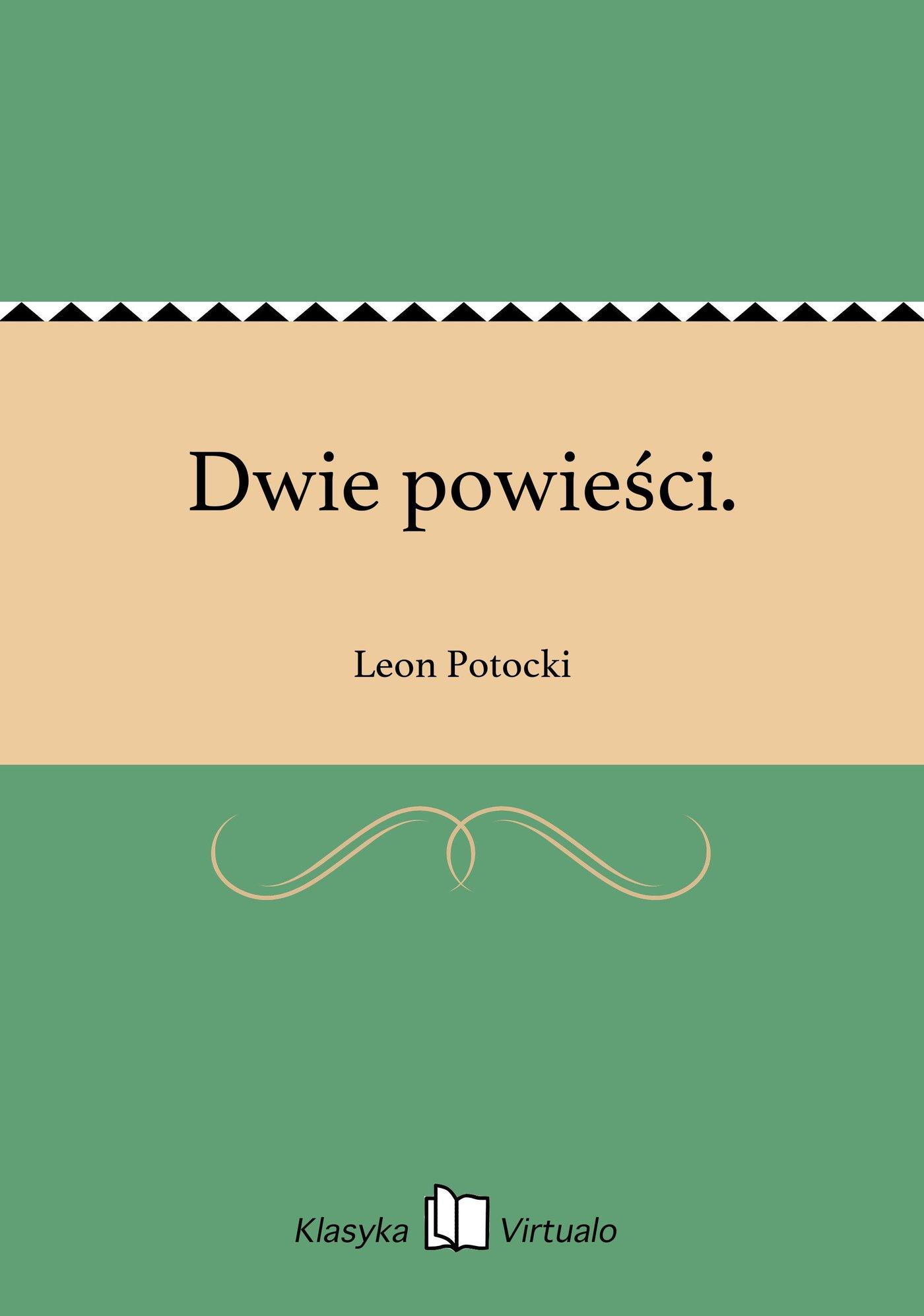 Dwie powieści. - Ebook (Książka EPUB) do pobrania w formacie EPUB