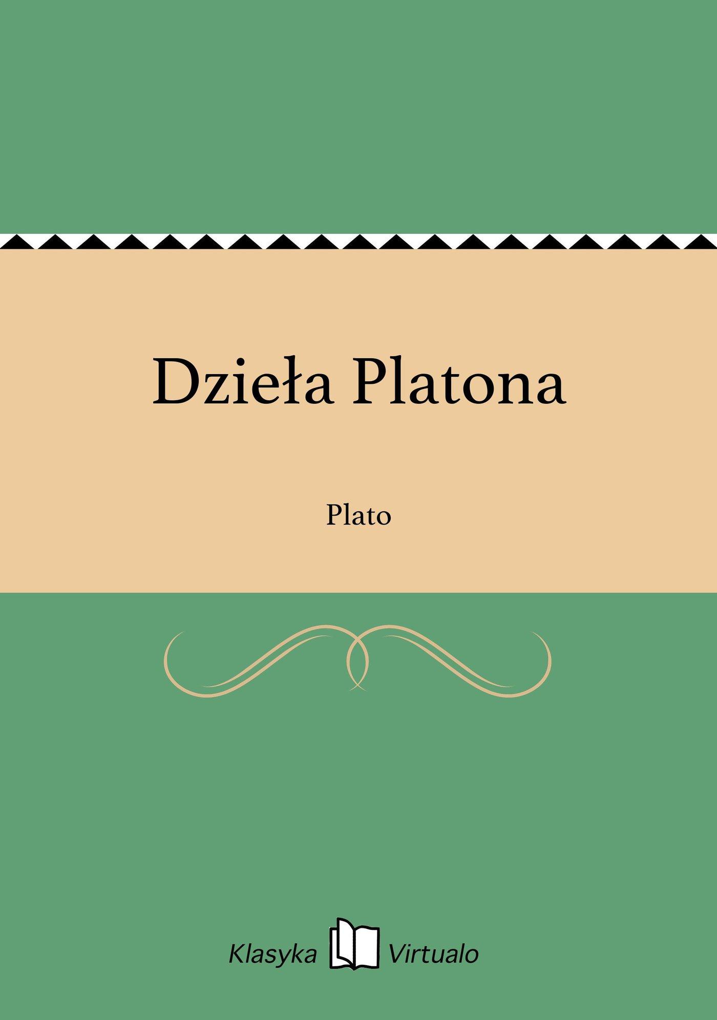 Dzieła Platona - Ebook (Książka EPUB) do pobrania w formacie EPUB