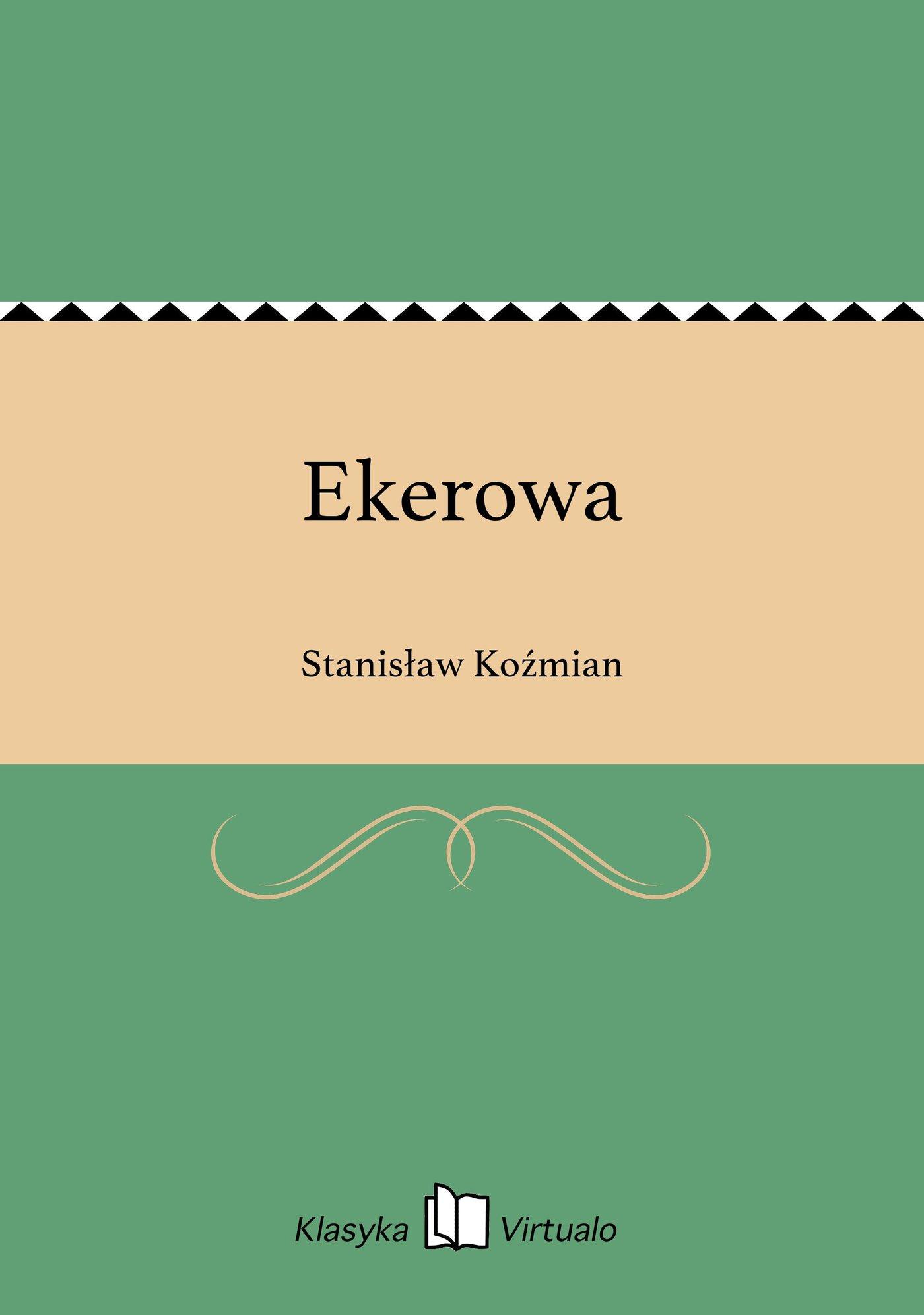 Ekerowa - Ebook (Książka EPUB) do pobrania w formacie EPUB